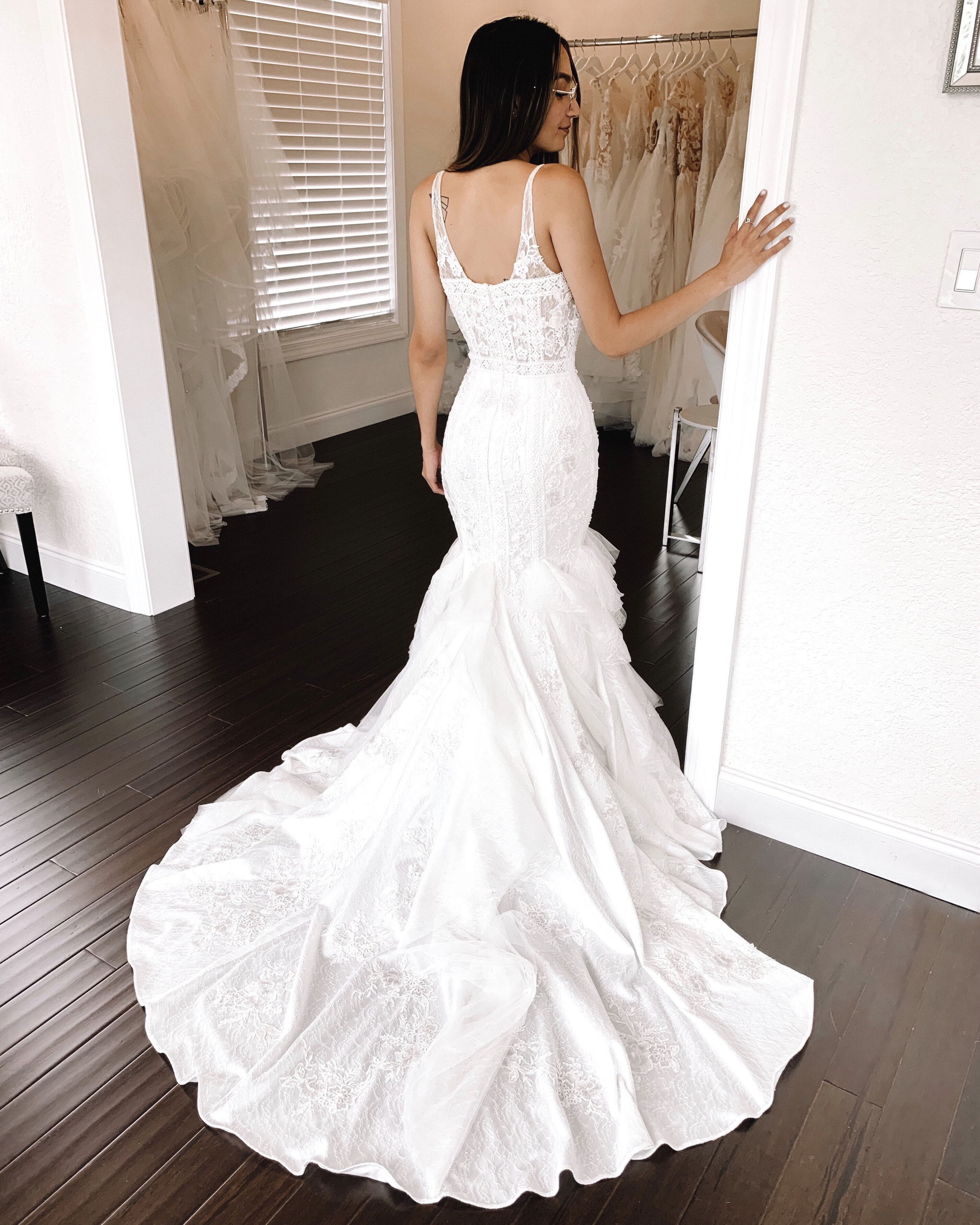 Time and Delivery - The time frame for ordering your bridal gown is 7 to 12 months to ensure enough time for delivery and fittings.In addition, several as new sample dresses are available for off-the rack purchase.We offer