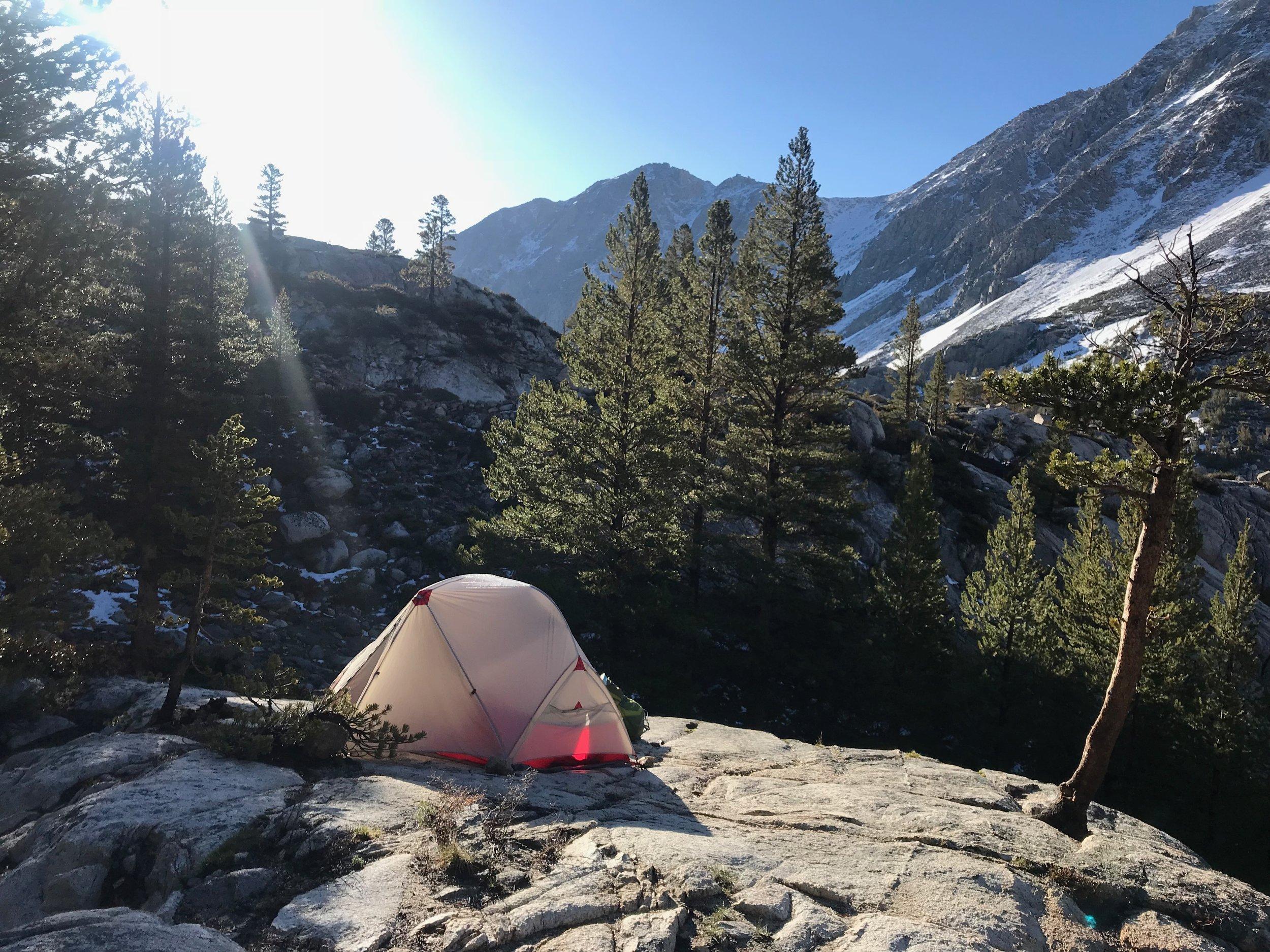 The MSR Hubba Hubba tent