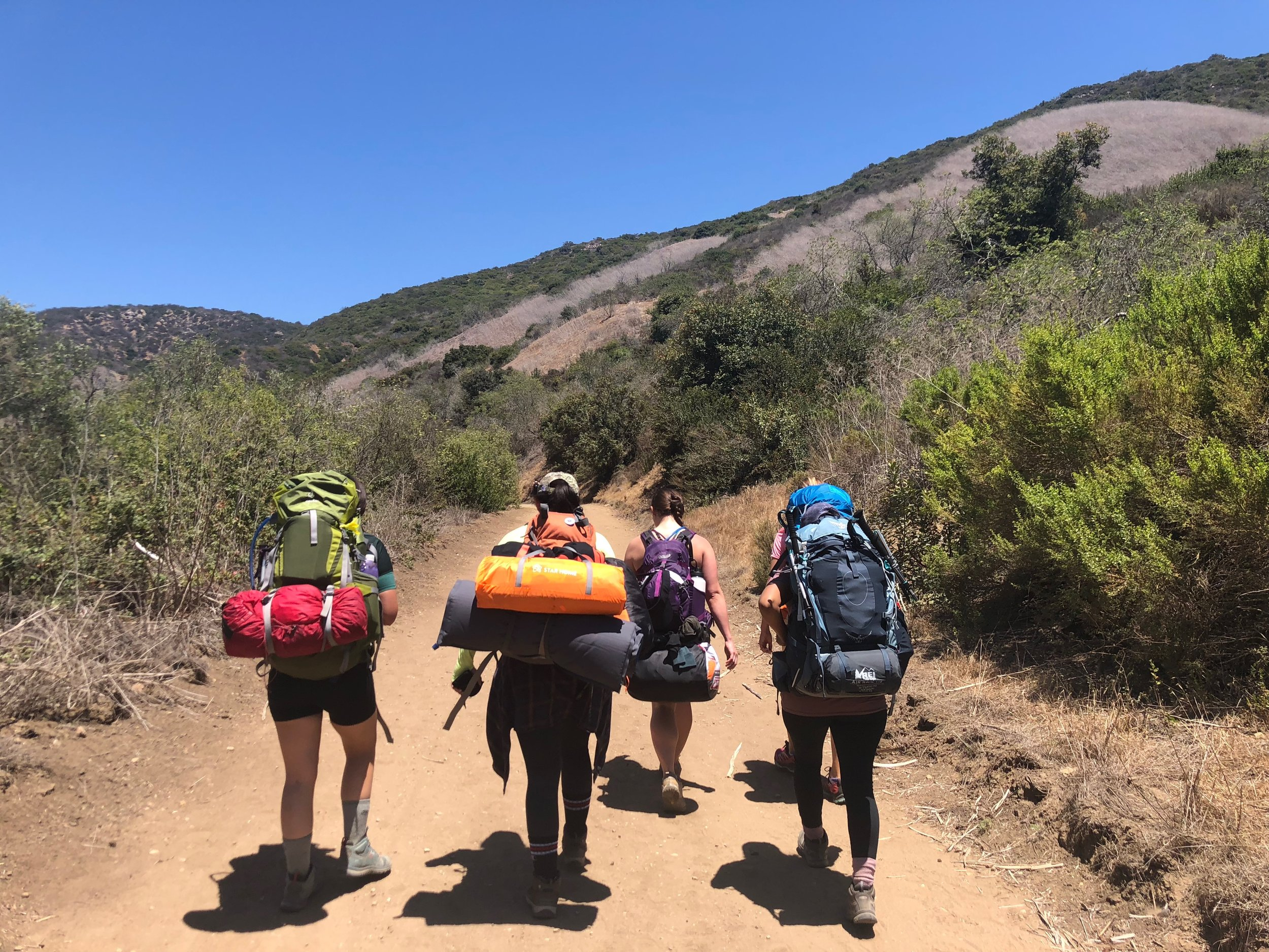 Backpacking girl gang
