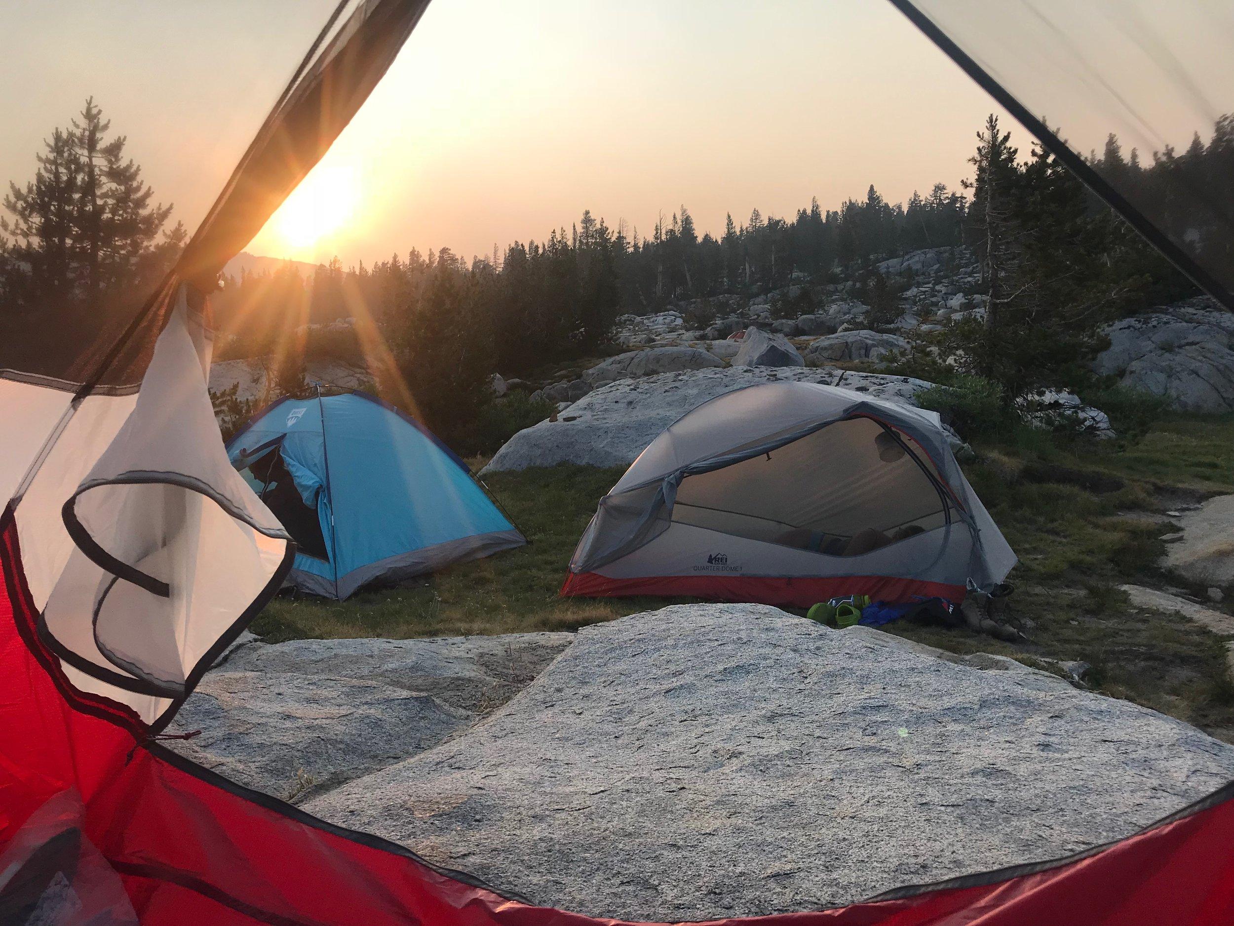 Sunset tent views.