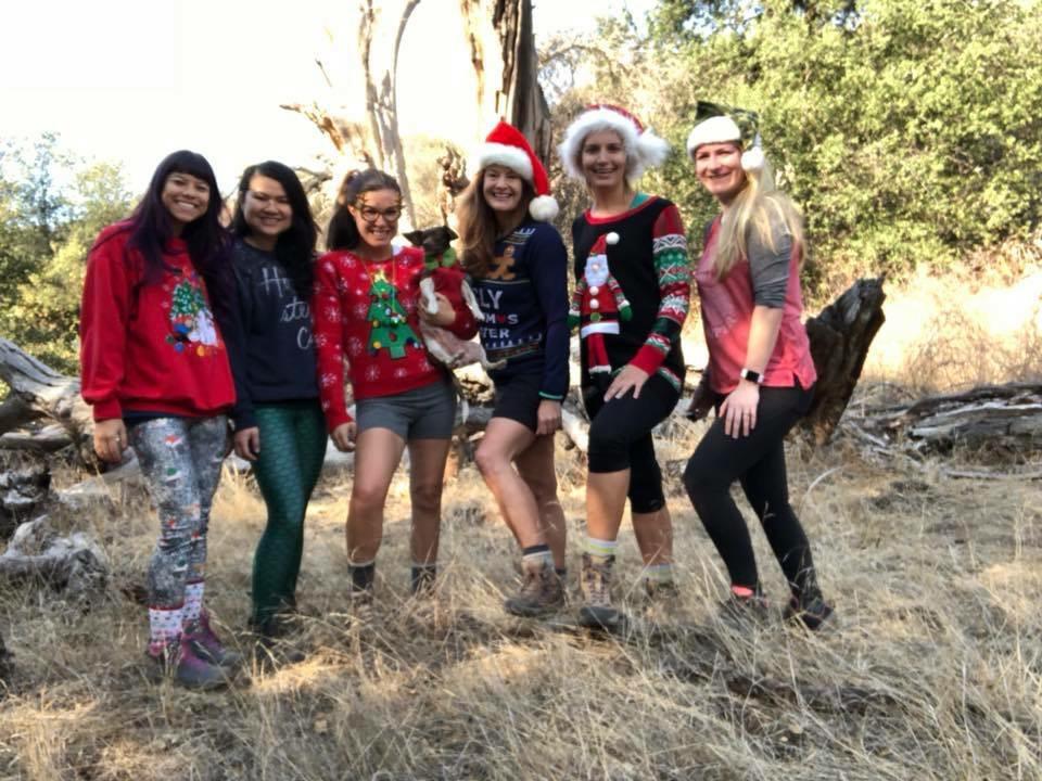 December 2017: GirlsWhoHike Ugly Christmas Sweater Hike to Bear Canyon