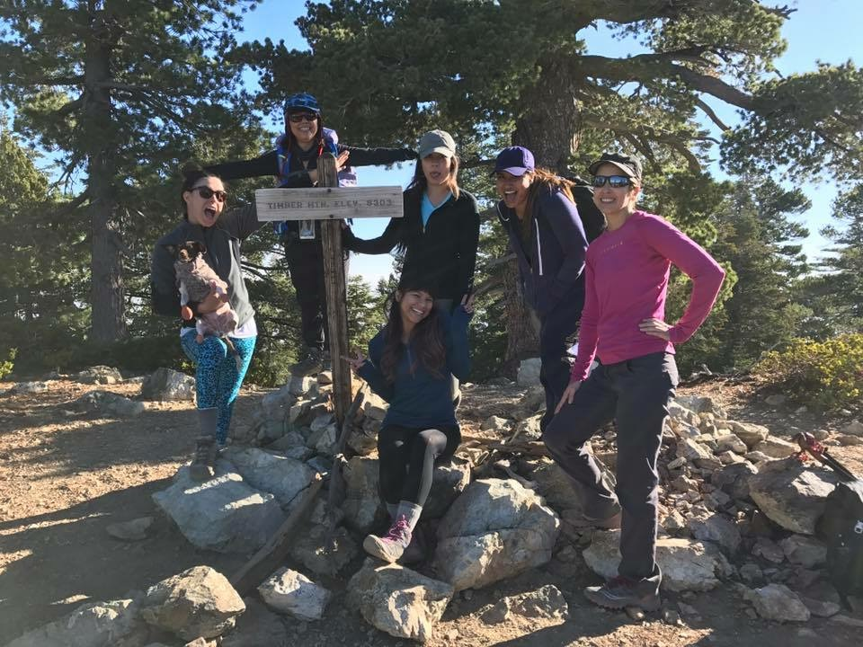 March 2018: GirlsWhoHike The Three T's in the Cucamonga Wilderness