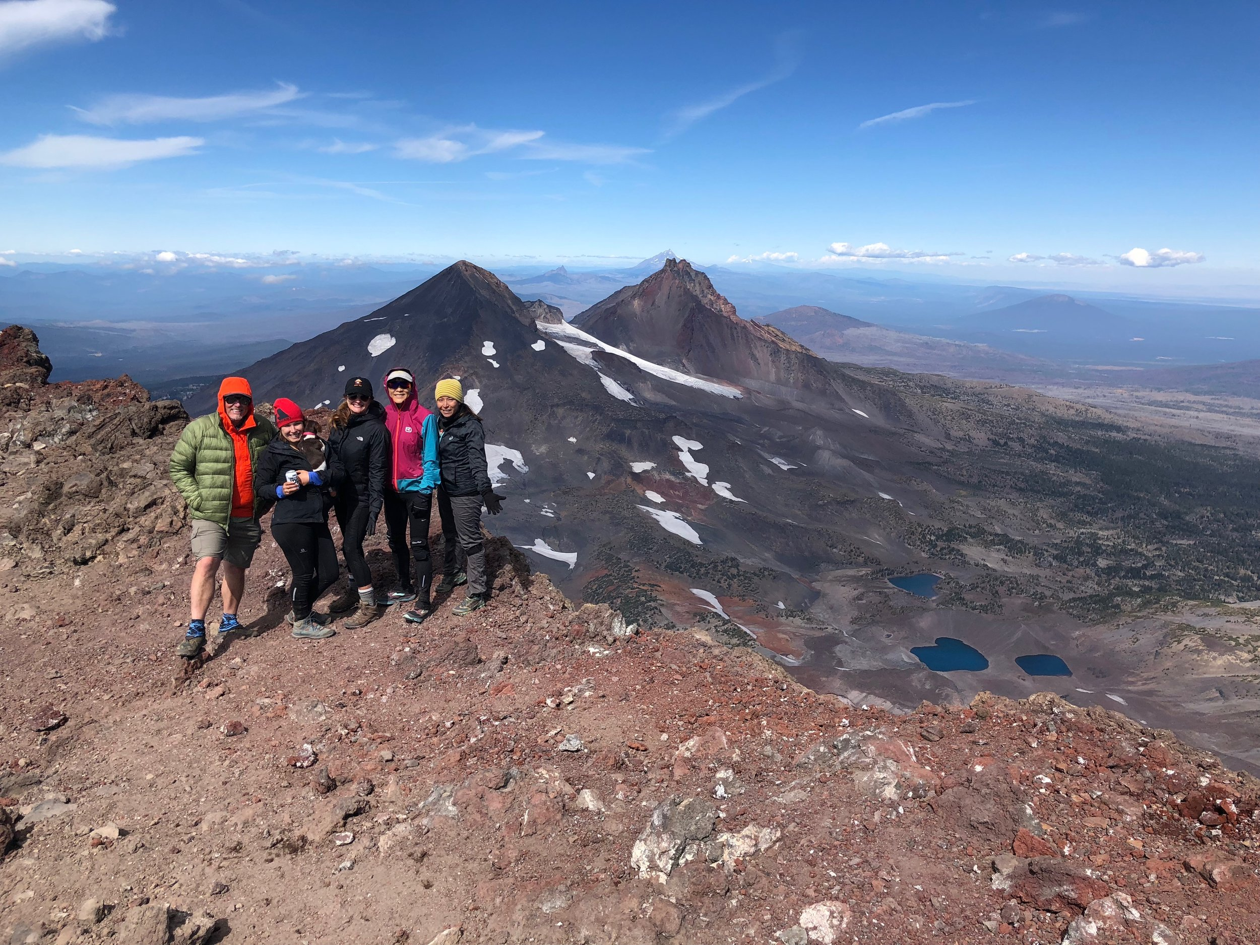 On the summit of South Sister with Jeff Hester (founder of six pack of peaks challenge), Moo, Shannon, Shuping and Jenn. By far, the most beautiful mountain I have ever hiked upon.