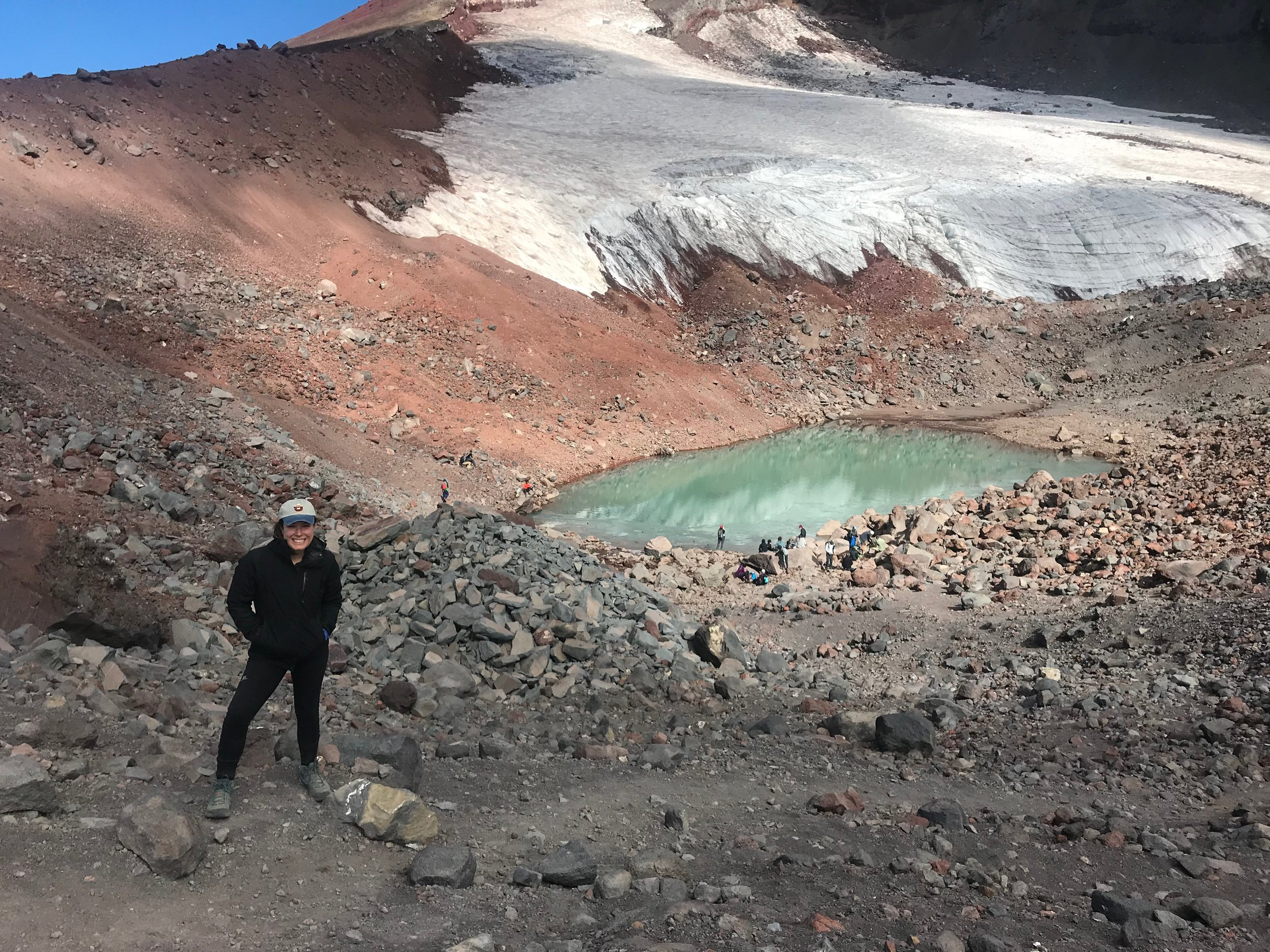 Alpine lakes were present near the summit of South Sister.