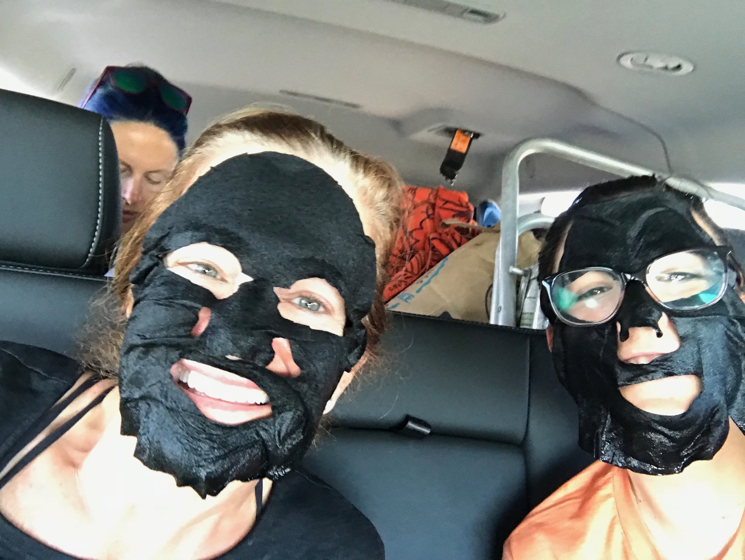 Real life versus Instagram. I carry sheet masks with me when I camp, backpack and travel and I may or may not wear them in my tent, at camp or in the car.
