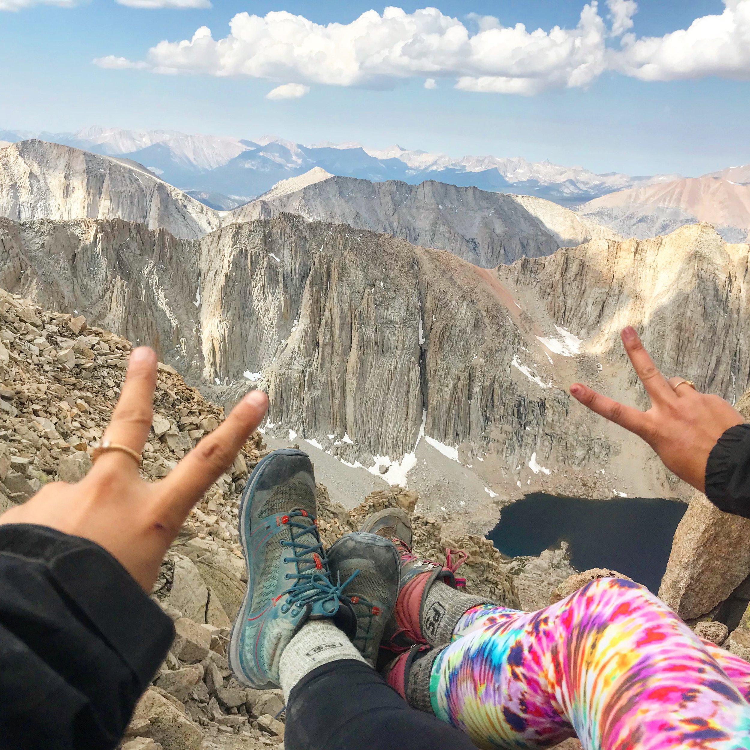 People socks for the win on Mt Whitney, July 2018.