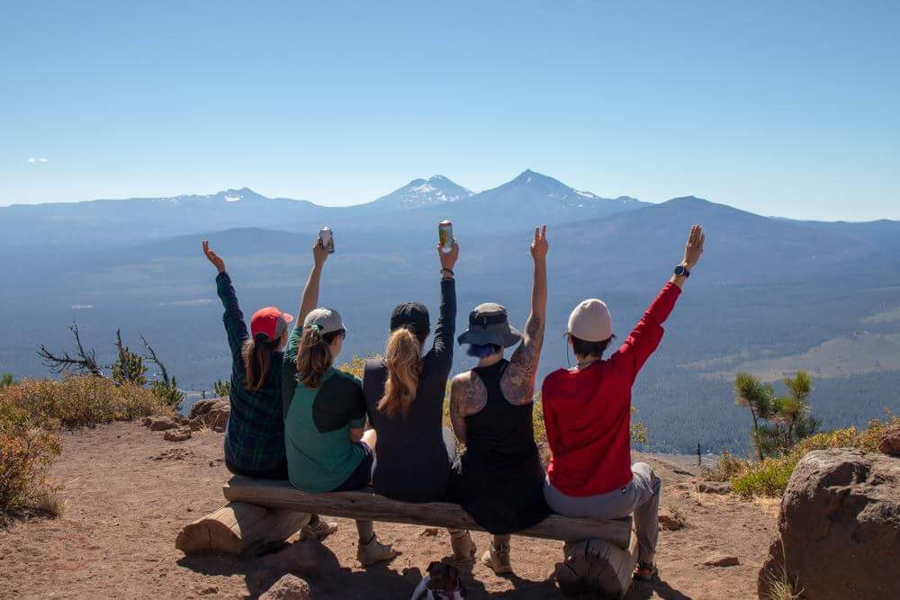 Raising our glasses to Oregon after summiting six peaks in five days, personally I attempted and summit five peaks.
