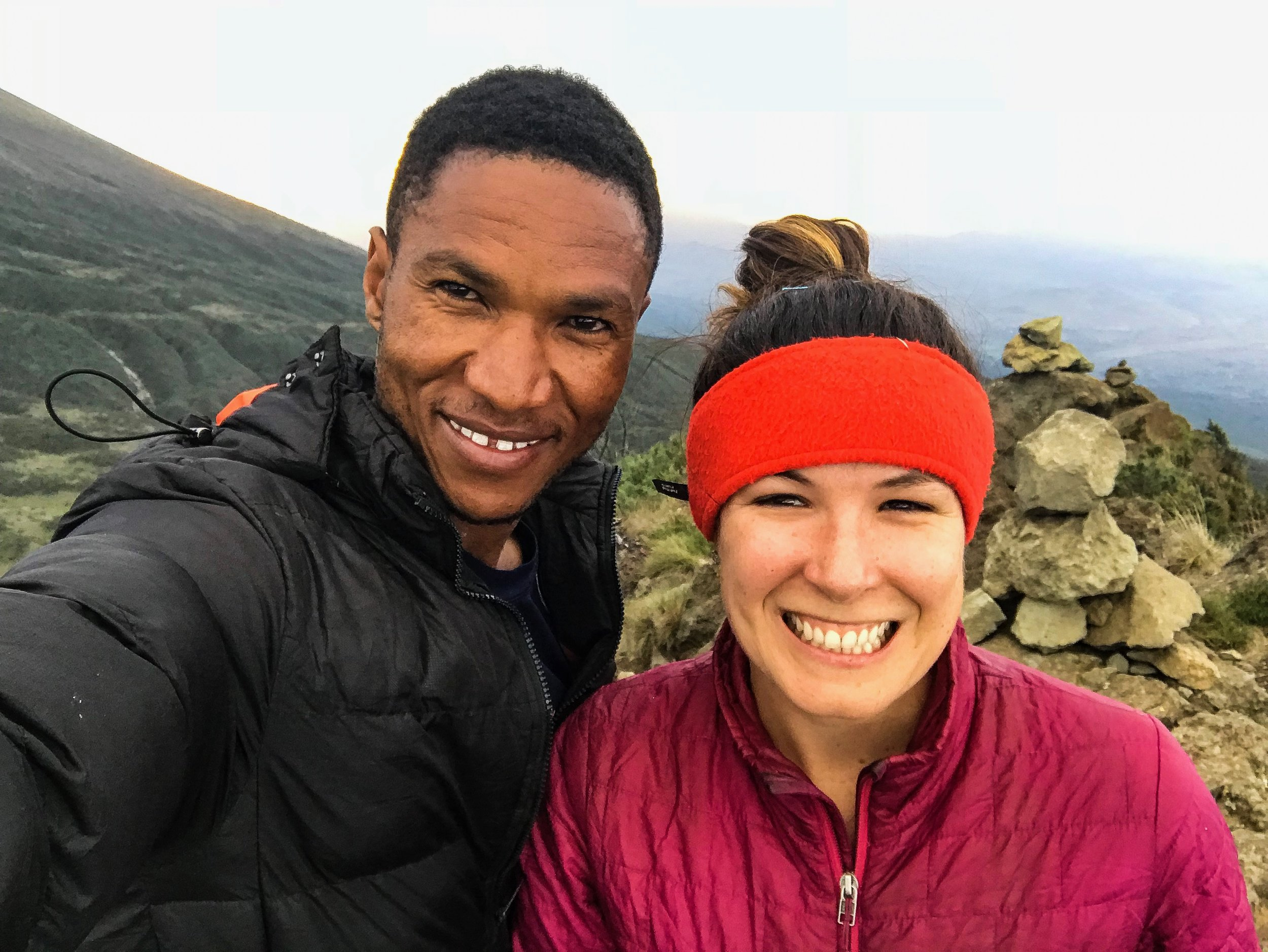 Okay, I am not a selfie person but…summit selfies with my tried and true guide are a must.
