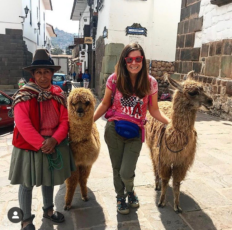 Hanging out in Cusco town hugging alpacas and rooting for Angels baseball. I did miss the home opener because I was in Peru so I had to support my team from afar.