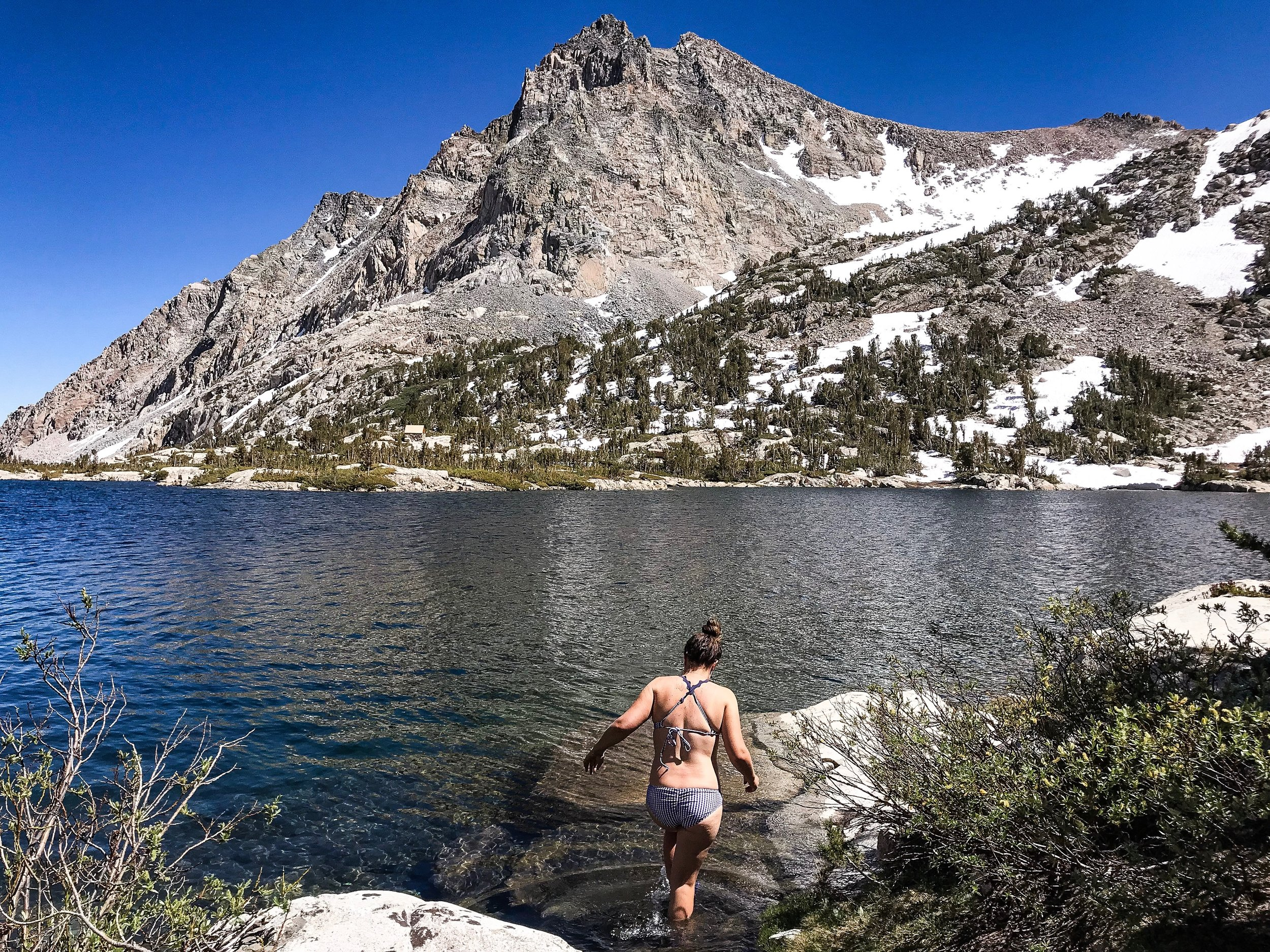 I am the first person to jump in an alpine lake…