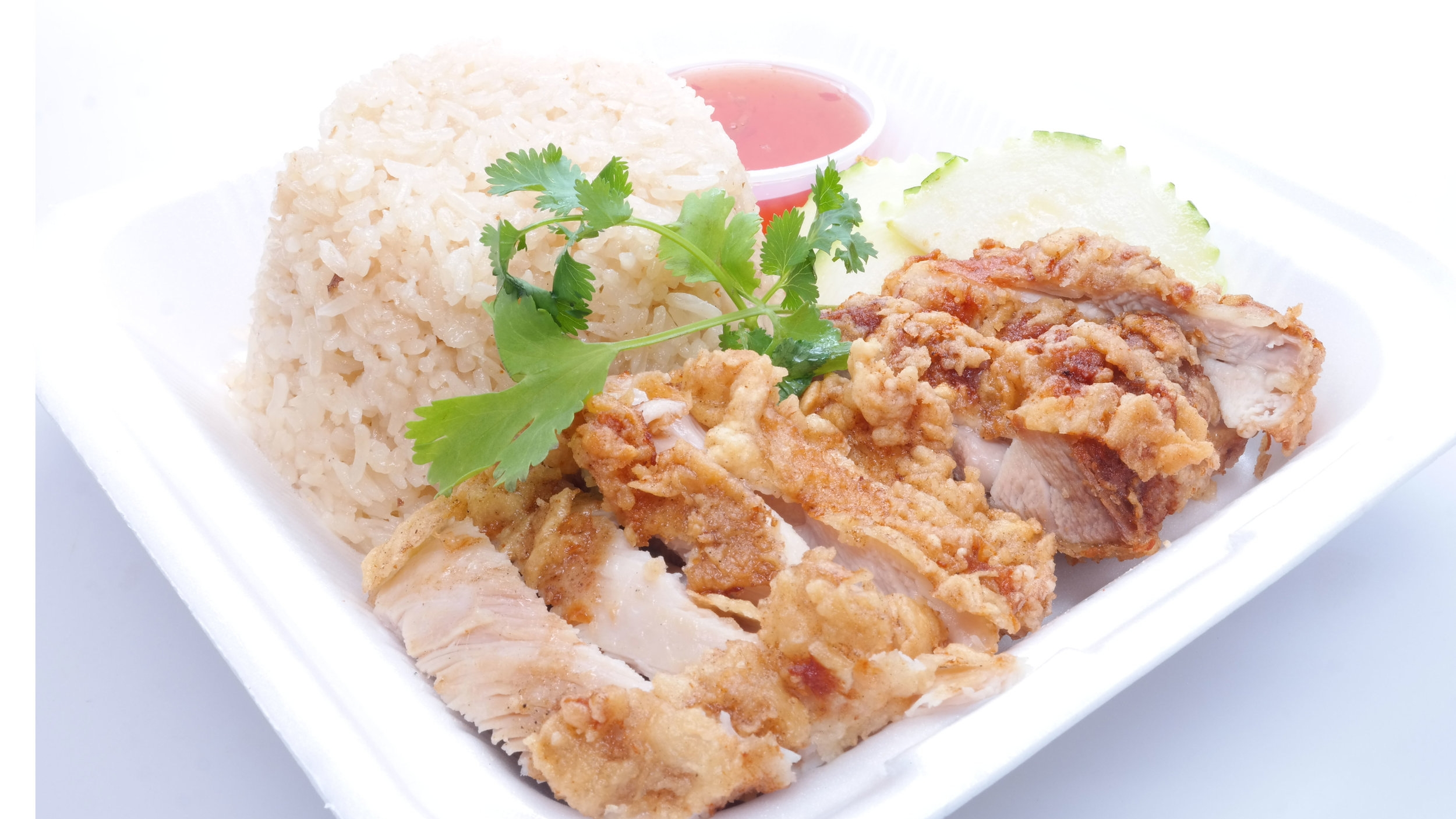 Hainan FRIED Chicken Rice