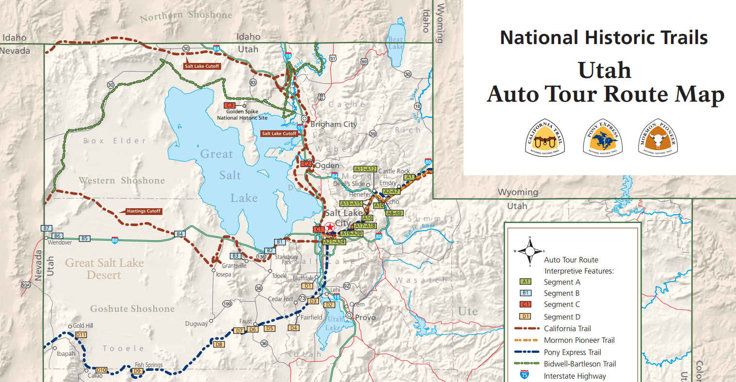 The Utah Auto Tour Route Map   accompanies the Auto Tour Route Interpretive Guide.