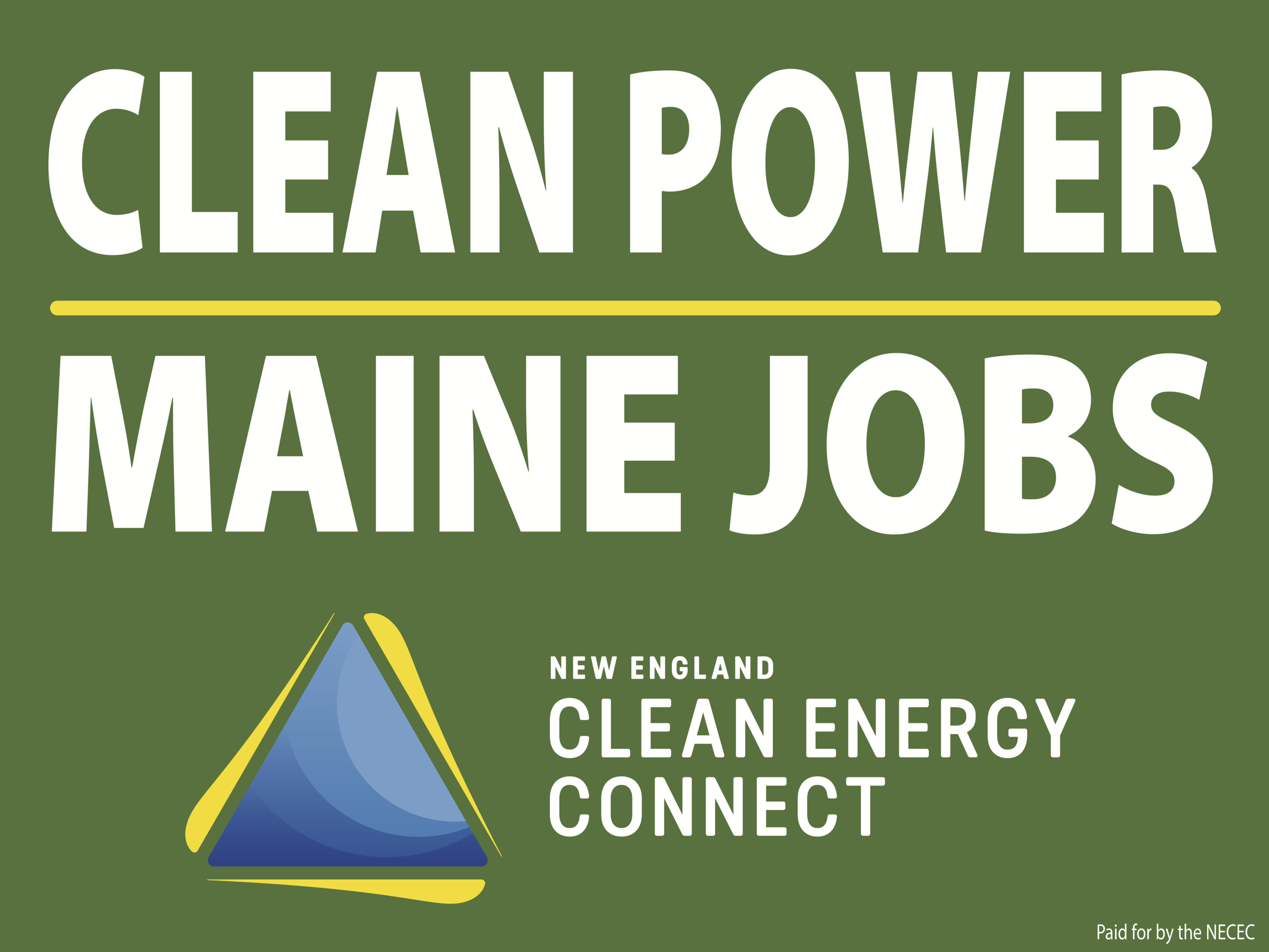 Clean Power Maine Jobs sign.png
