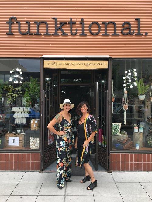 Chantal Couture and Maiya Kiy outside Funktional