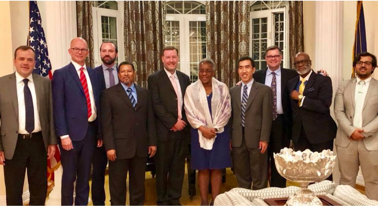 Members of the IGE Delegation and U.S. Ambassador to Uzbekistan Pamela Spratlen