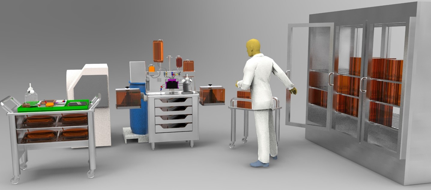 Closed, automated processing system for allogeneic therapy