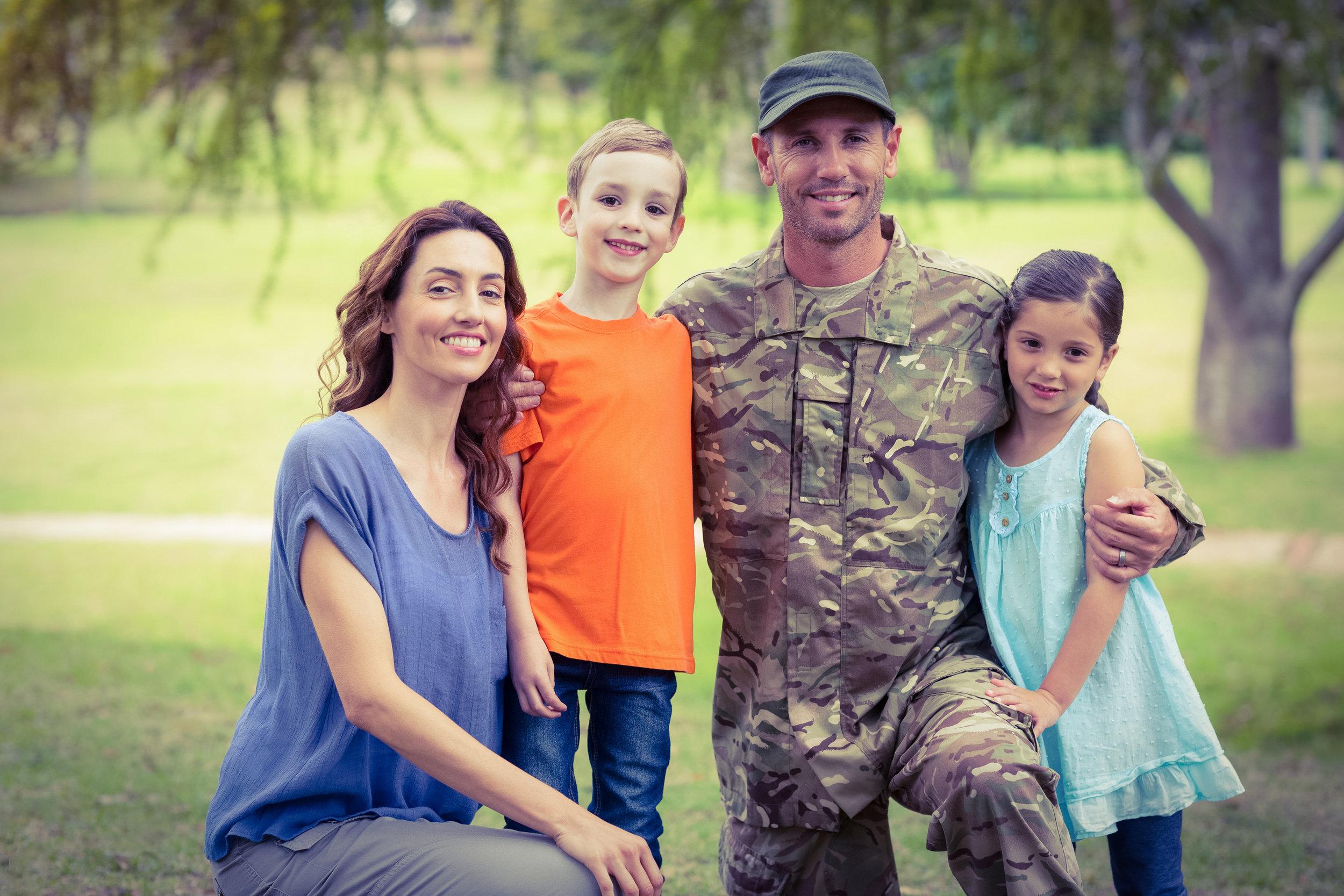 Stock Veteran Family