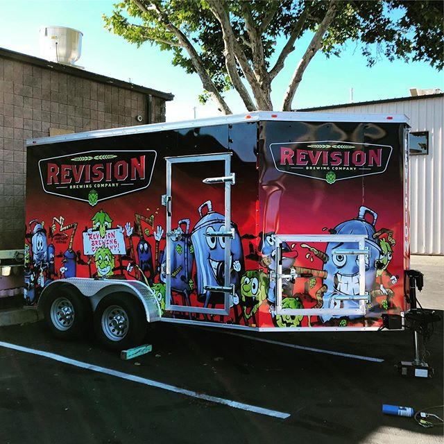 Rad new trailer wrap for @revisionbrewing .  Can't wait to see this baby on the road!