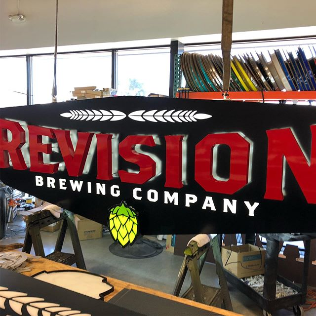 We ha da blast building these signs for our friends at @revisionbrewing !! What an awesome set.