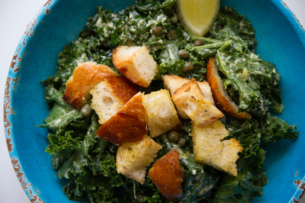 Our 9 year old daughter Emily came up with just the right mix for these amazing croutons and we make the caesar dressing fresh everyday! Ready for health benefits of garlic?