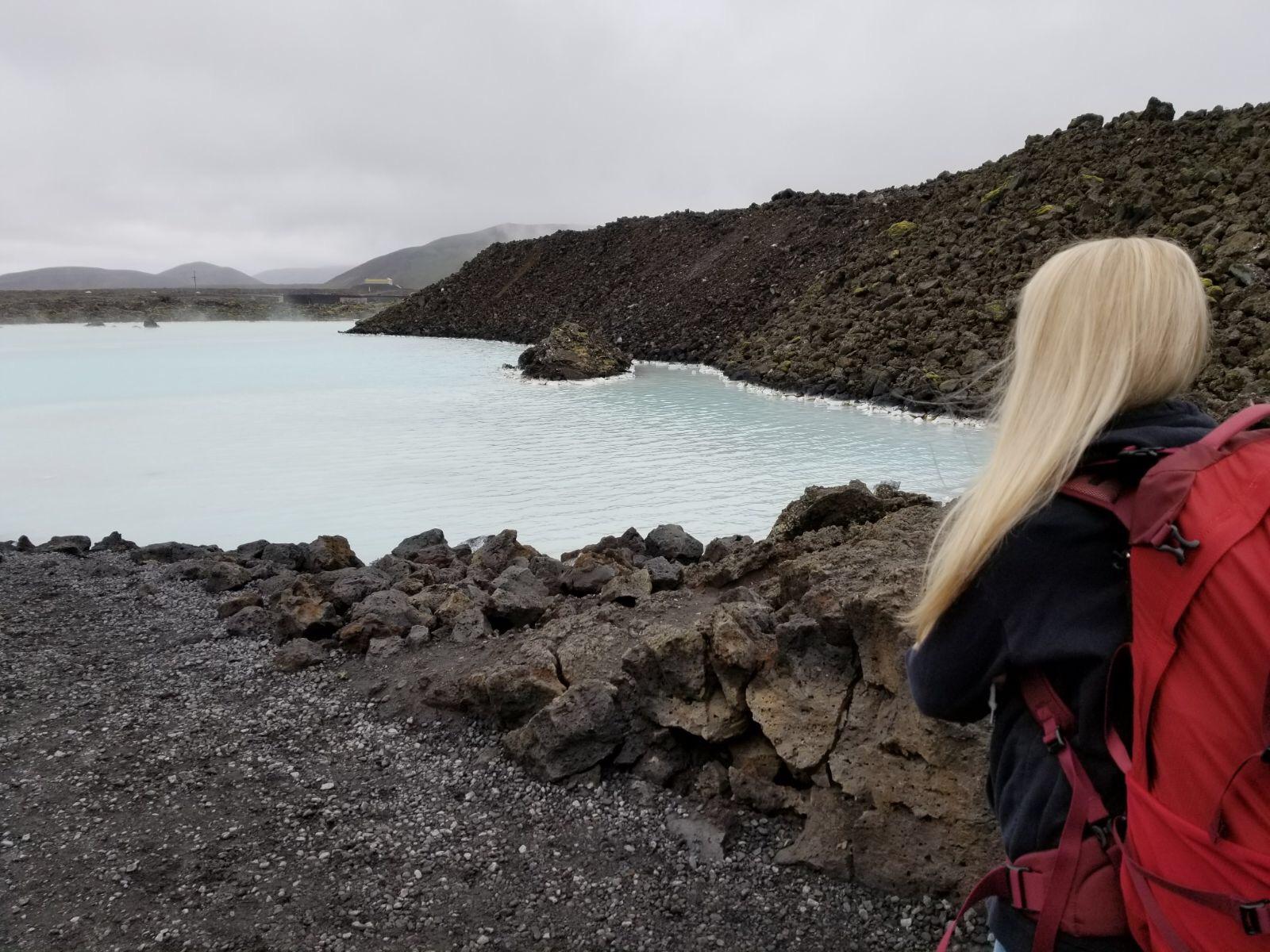 Entering The Blue Lagoon in Reykjavik, Iceland