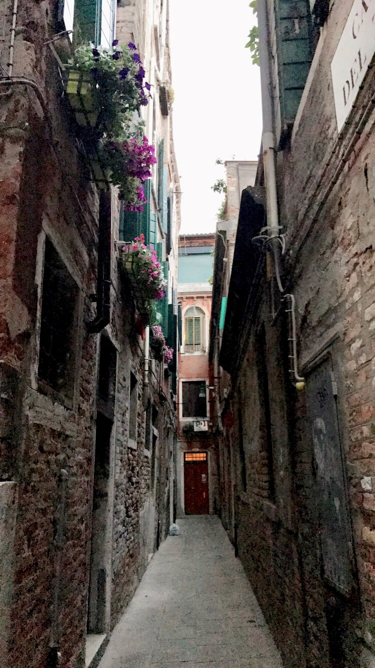 """Tiny narrow """"street"""" leading to our Airbnb"""