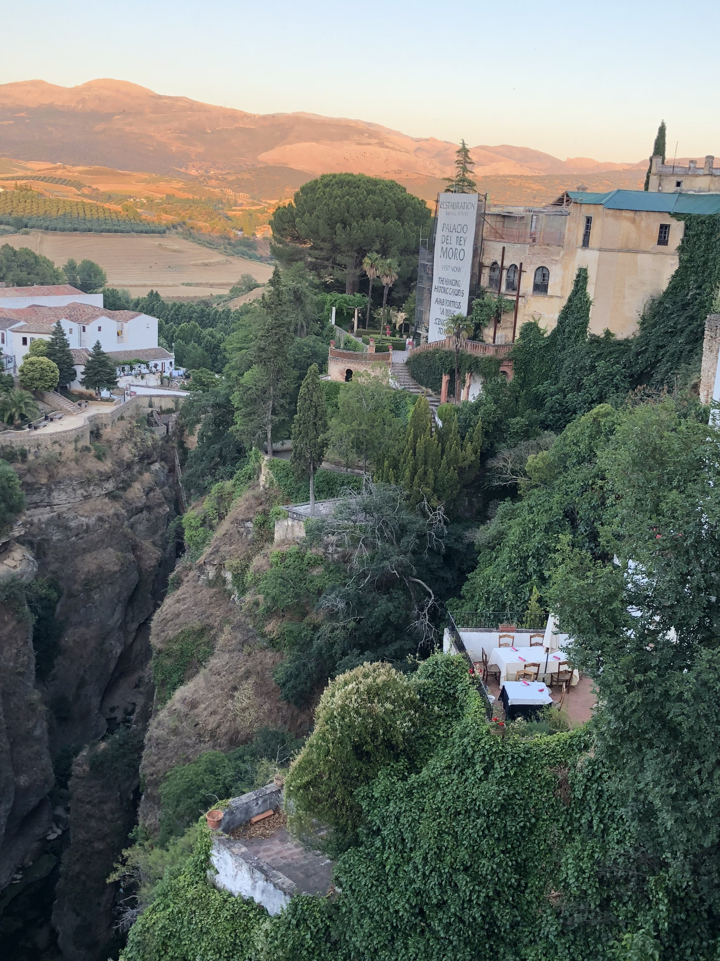 View from the restaurant we ate at. There are multiple of places to eat with great views in Ronda.