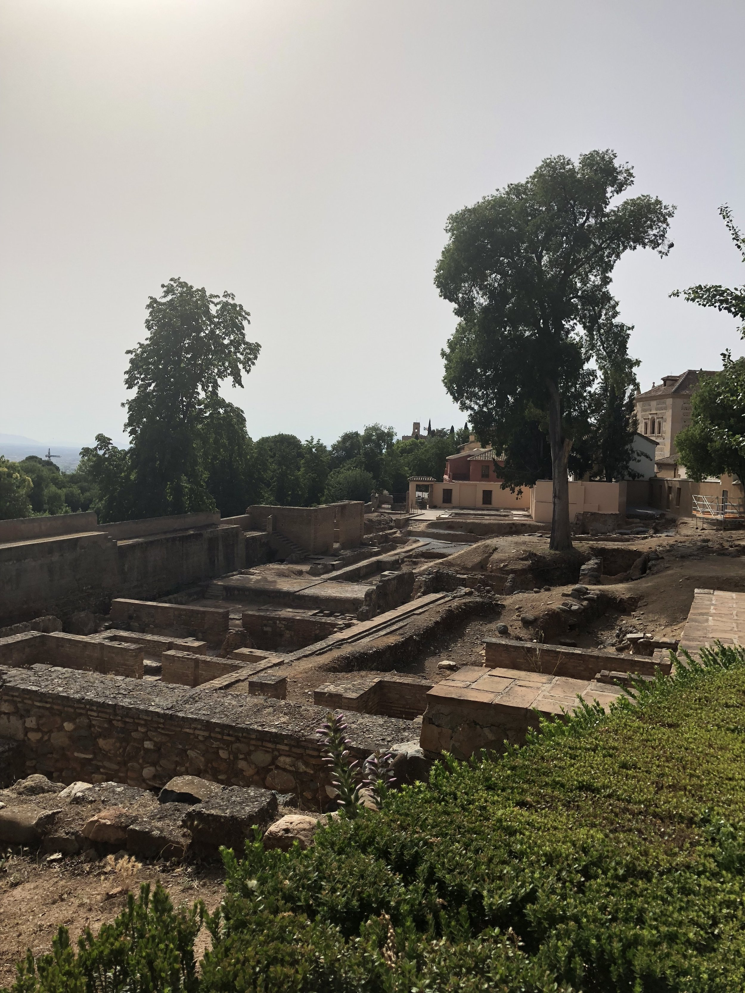 Ruins from attacks on the palace.