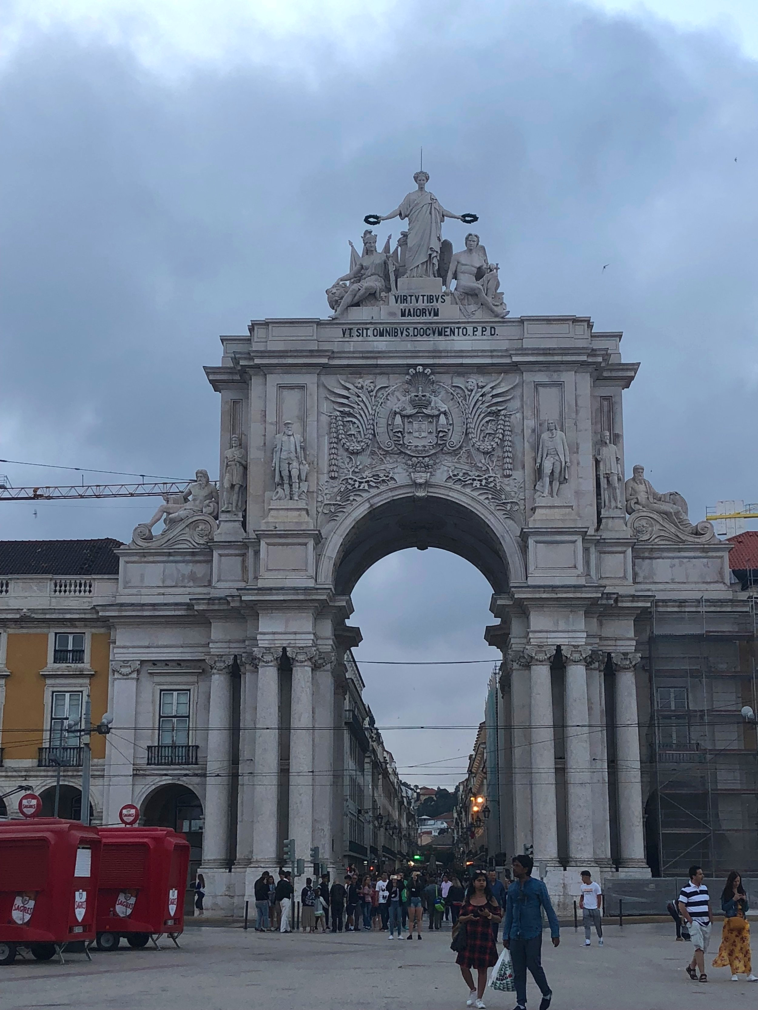 View of the arch from inside the square