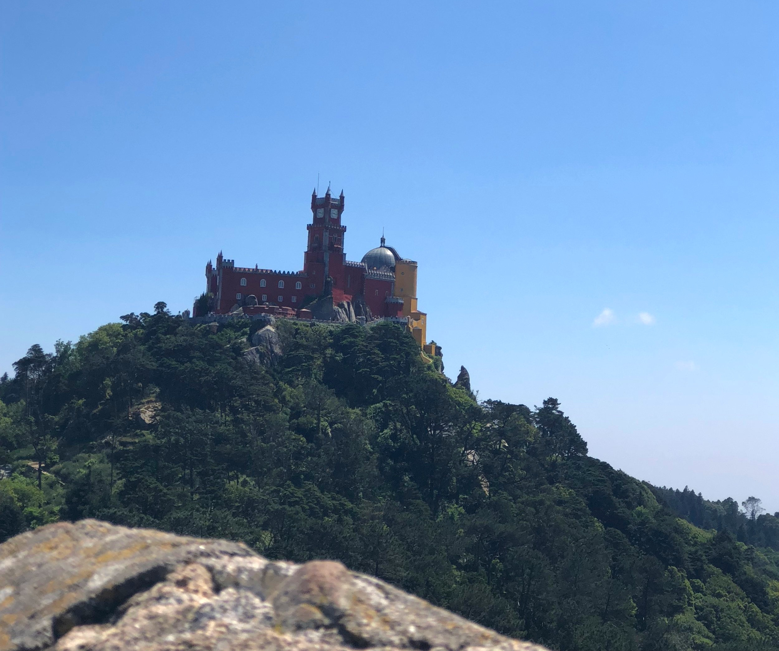 View of Pena Palace from Moor's Castle