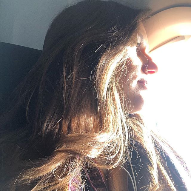 When you get a window seat on the sunny side of the plane .... ☀️🥰 . .... you bask in the sun for 2.5 hours ✈️  . You better believe I'm also enjoying every moment of this magnificent view from above. I love nothing more than getting a window seat, putting in my headphones and looking out the window when I fly. The view never gets old and I always stare in awe at the beauty of this earthly world we live in 🌎  . This morning I'm thinking about how humbling it is when we allow ourselves the opportunity to see the beauty from a different perspective.  . How can you open yourself up to a new perspective today?  . And of course, I'm feeling so so grateful to have gotten out of Michigan before the 2019 snowpocalypse hit 🙏 ❄️