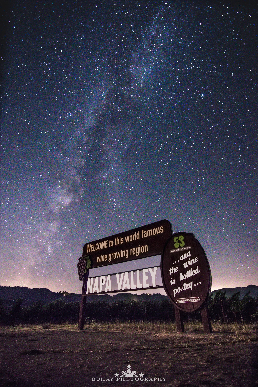 Napa Valley Sign Milky Way