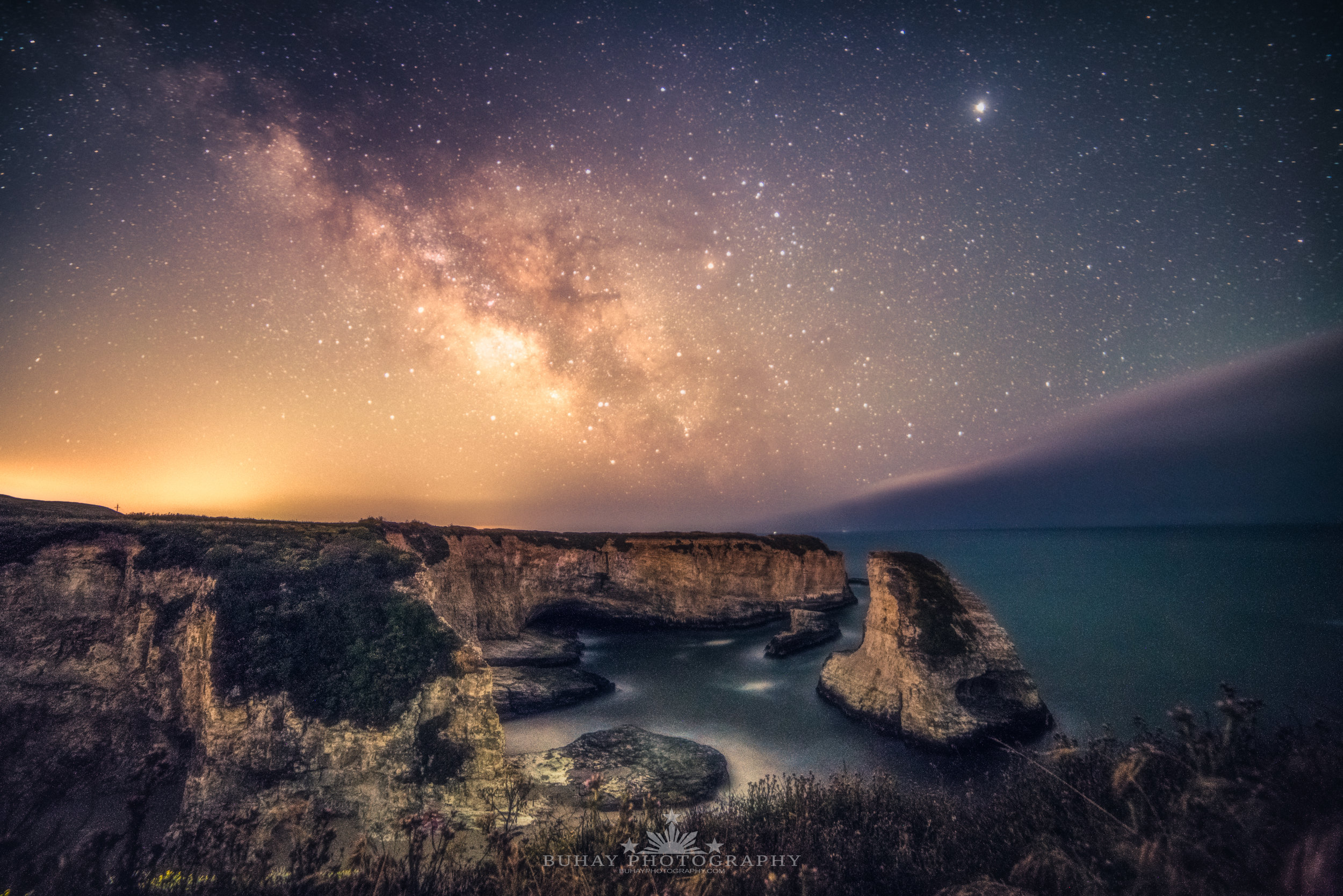 Shark Fin Cove Milky Way 2018