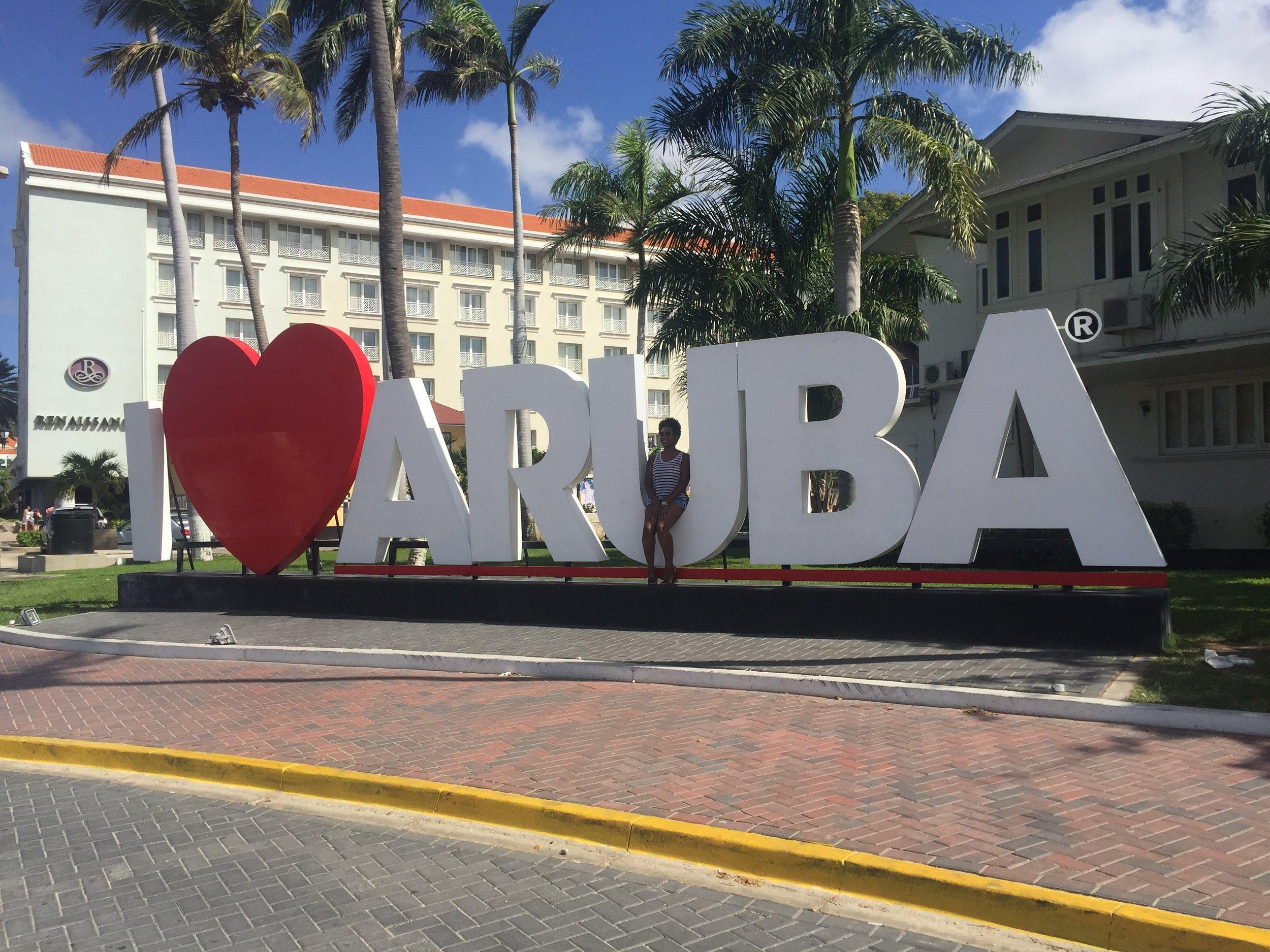 I Love Arube Sign