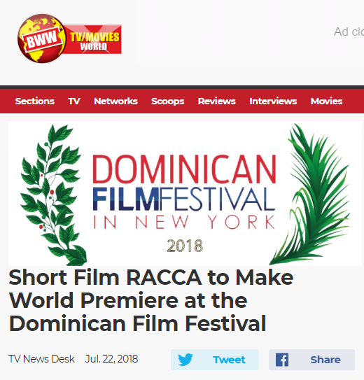 Broadway World covers RACCA's Dominican Film Festival Premiere
