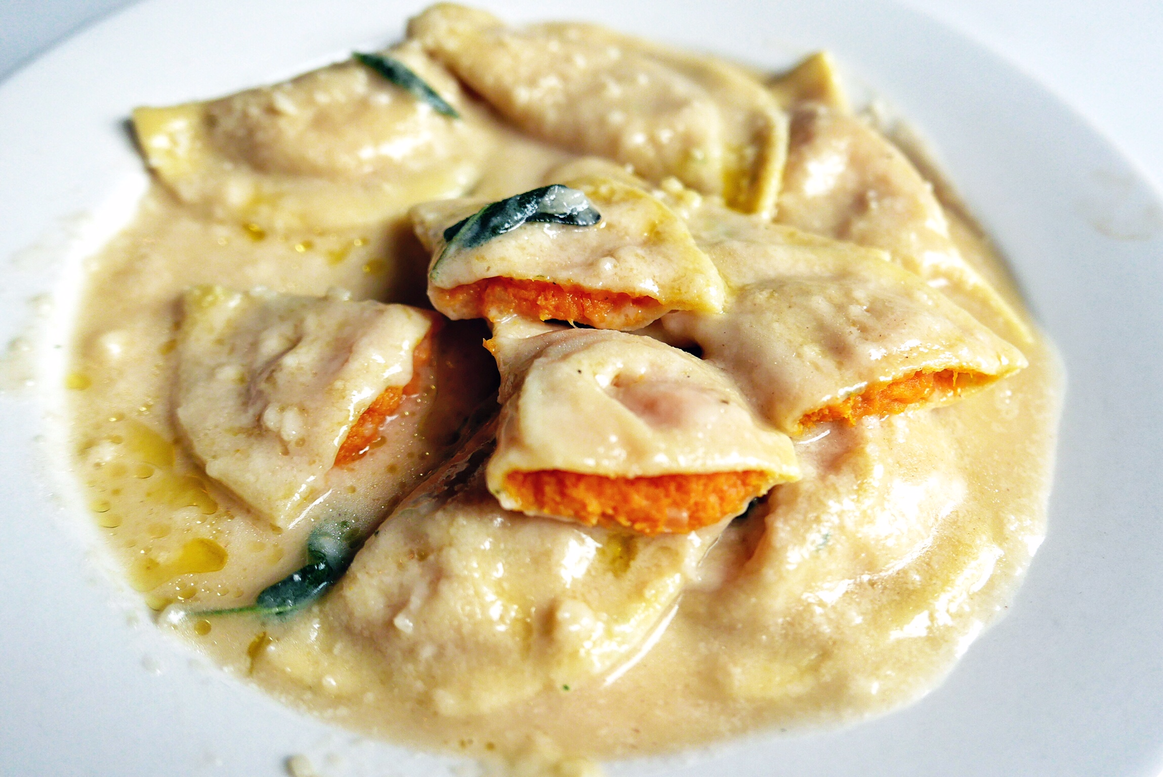 Butternut Ravioli in Brown Butter and Sage Sauce