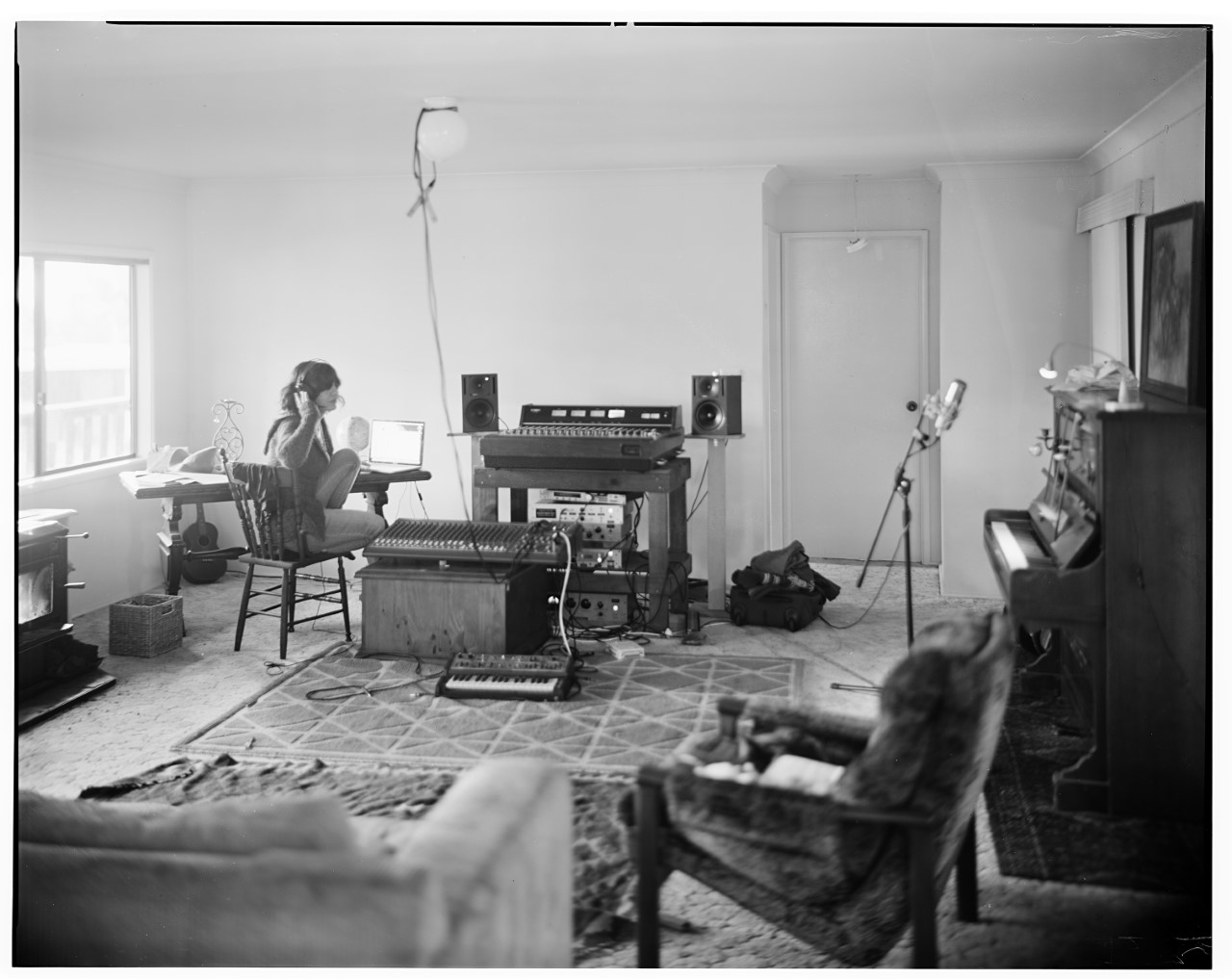 KANGAROO VALLEY 2017 Just finished tracking all the instruments on Mark. Jon from next door grabbed his amazing old camera and took this photo . Thank you so much Mr Jon Frank for your beautiful presence in Sol Seppy now ,through one lens or another. I am so grateful.