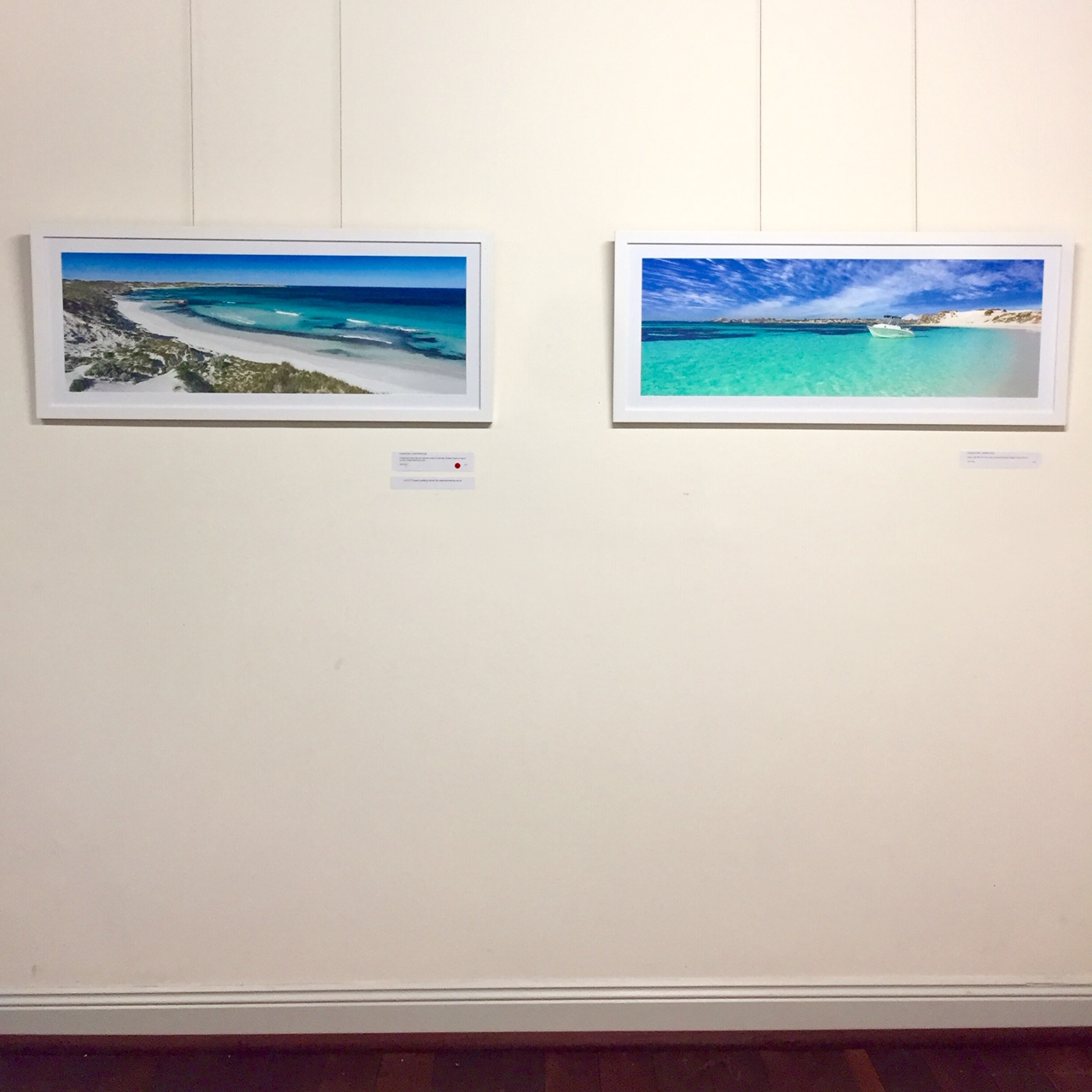 Two flawless mid winter Rottnest Island pieces. The 'Dolphins' end of Salmon Bay, and Parakeet Bay.