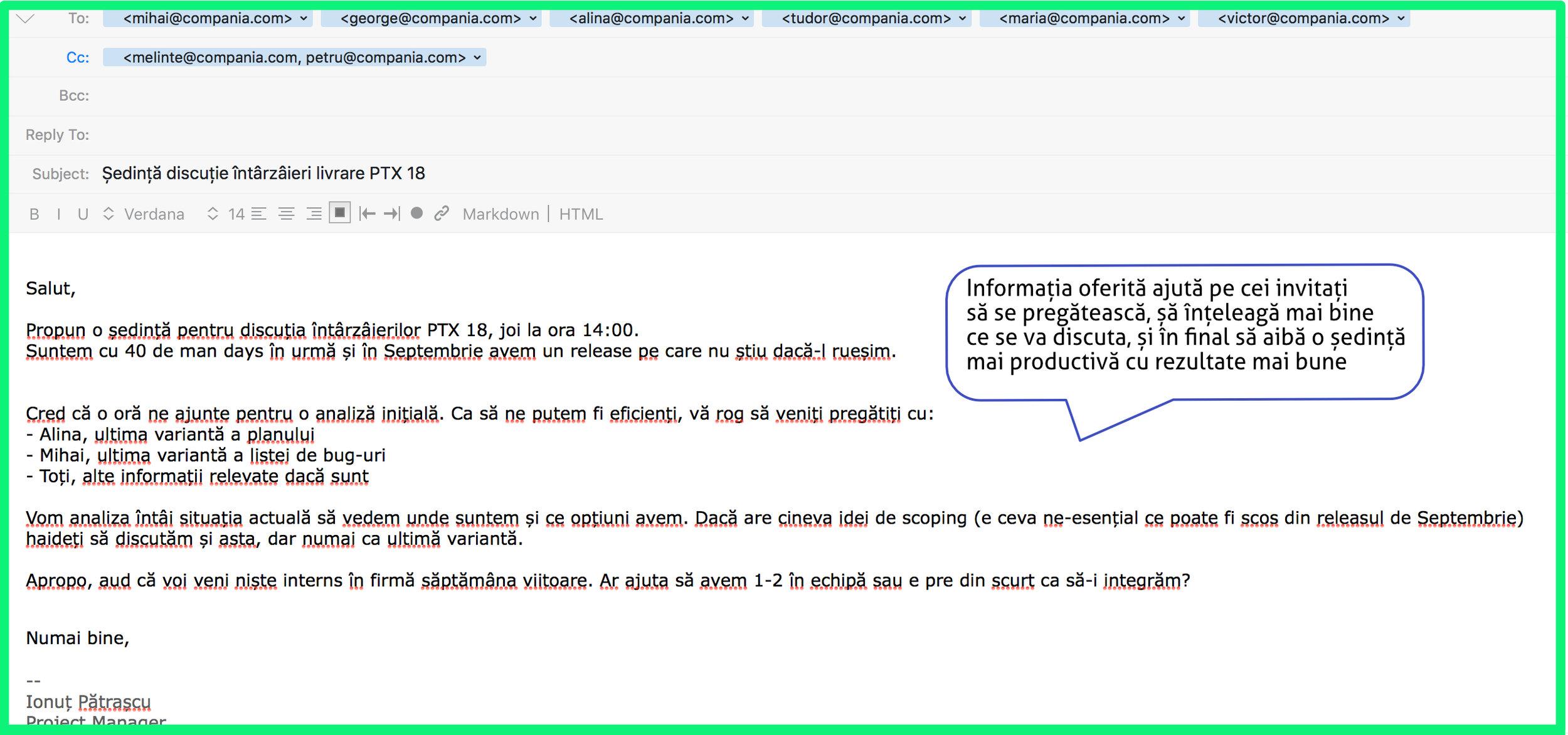 scrierea de e- mailuri de date