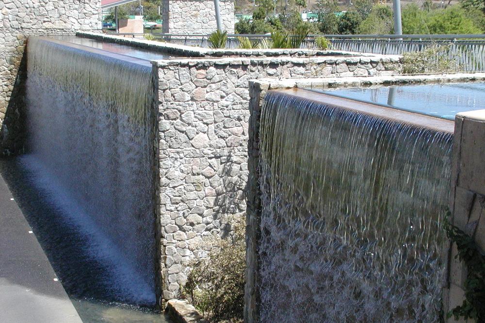 Fountain in Roma St precinct of Brisbane