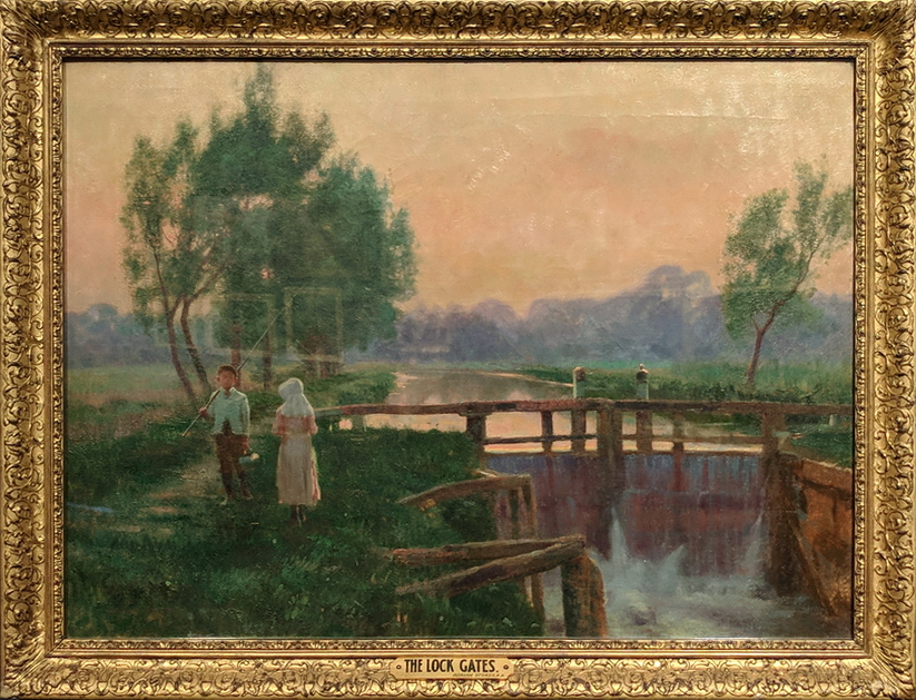 The Lock Gates by Adrian Stokes - see link to  NERAM Howard Hinton collection in Armidale, NSW
