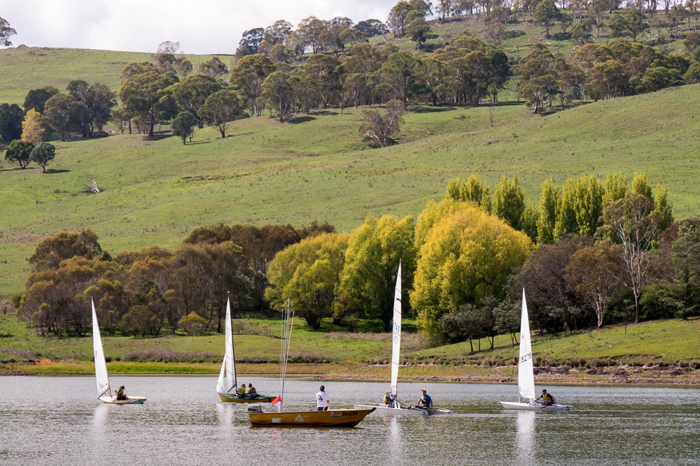 Sailing on Malpas Dam, near Guyra - image kindly provided by  Terry Cooke photography