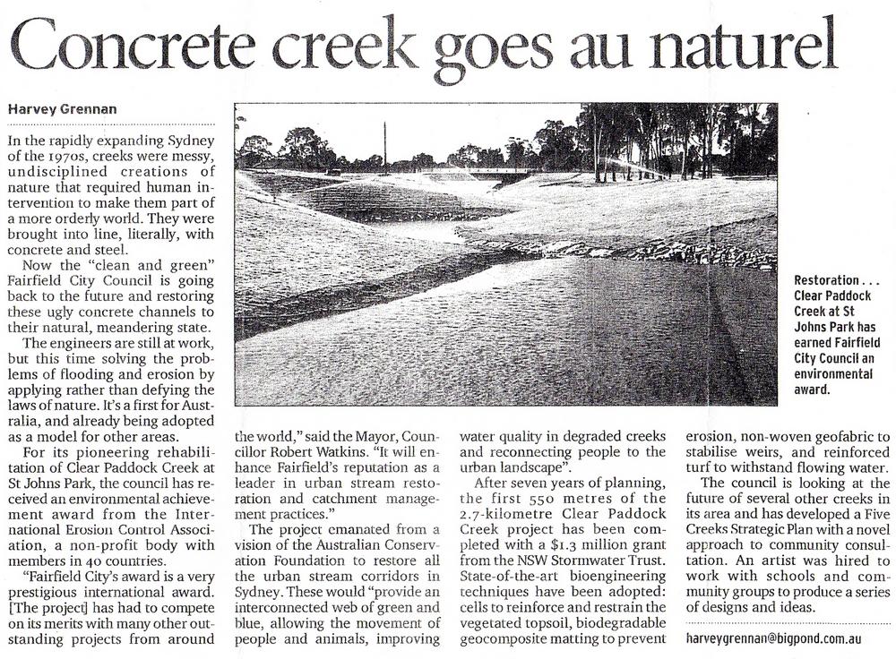 Sydney Morning Herald, March 20, 2001