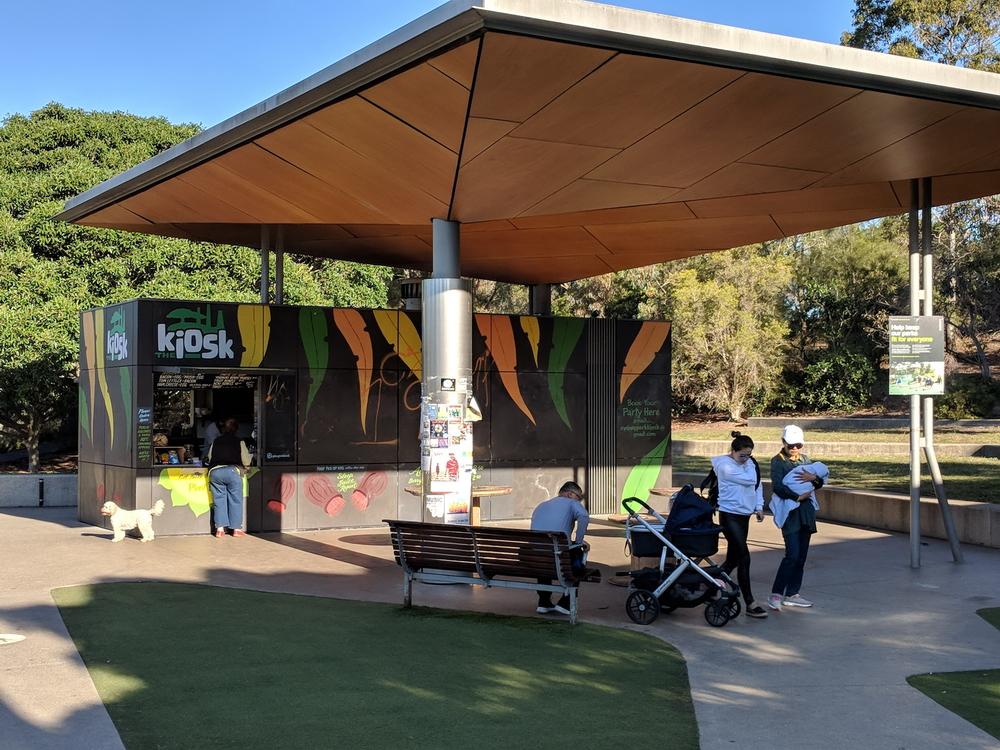 Kiosk near playground