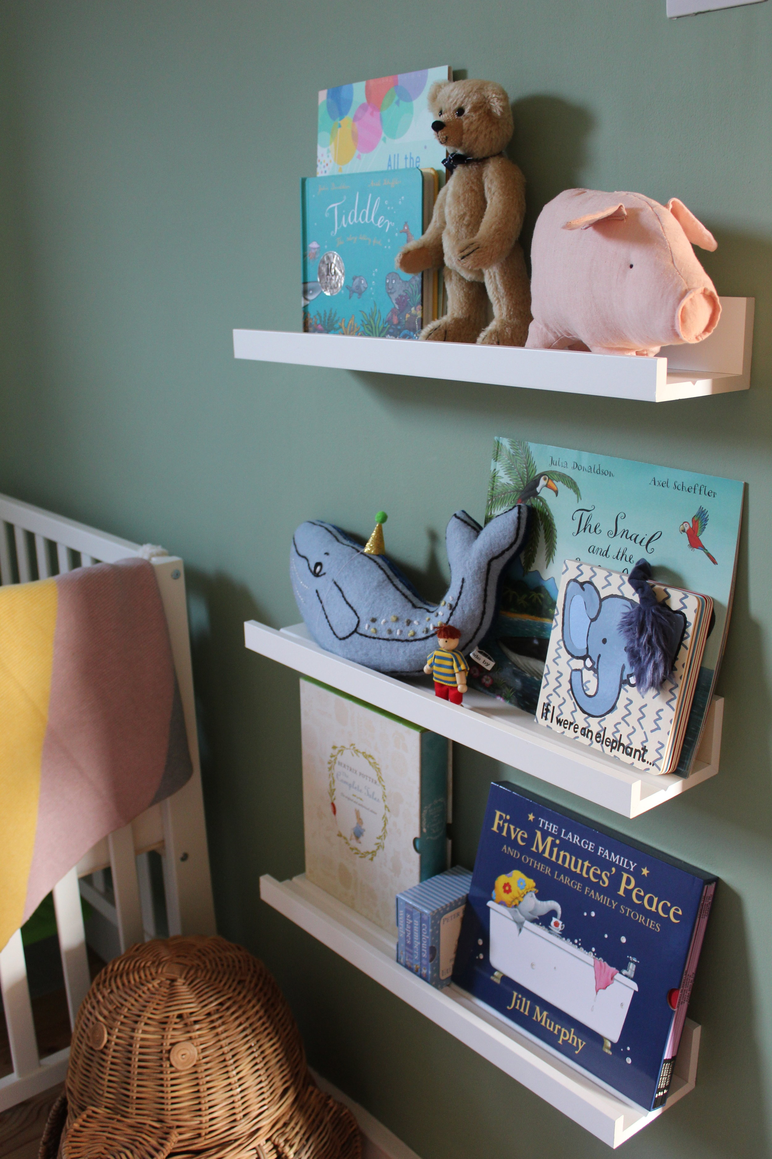 The books and toys were purchased by the parents, but I particularly love the linen pig from Arket.