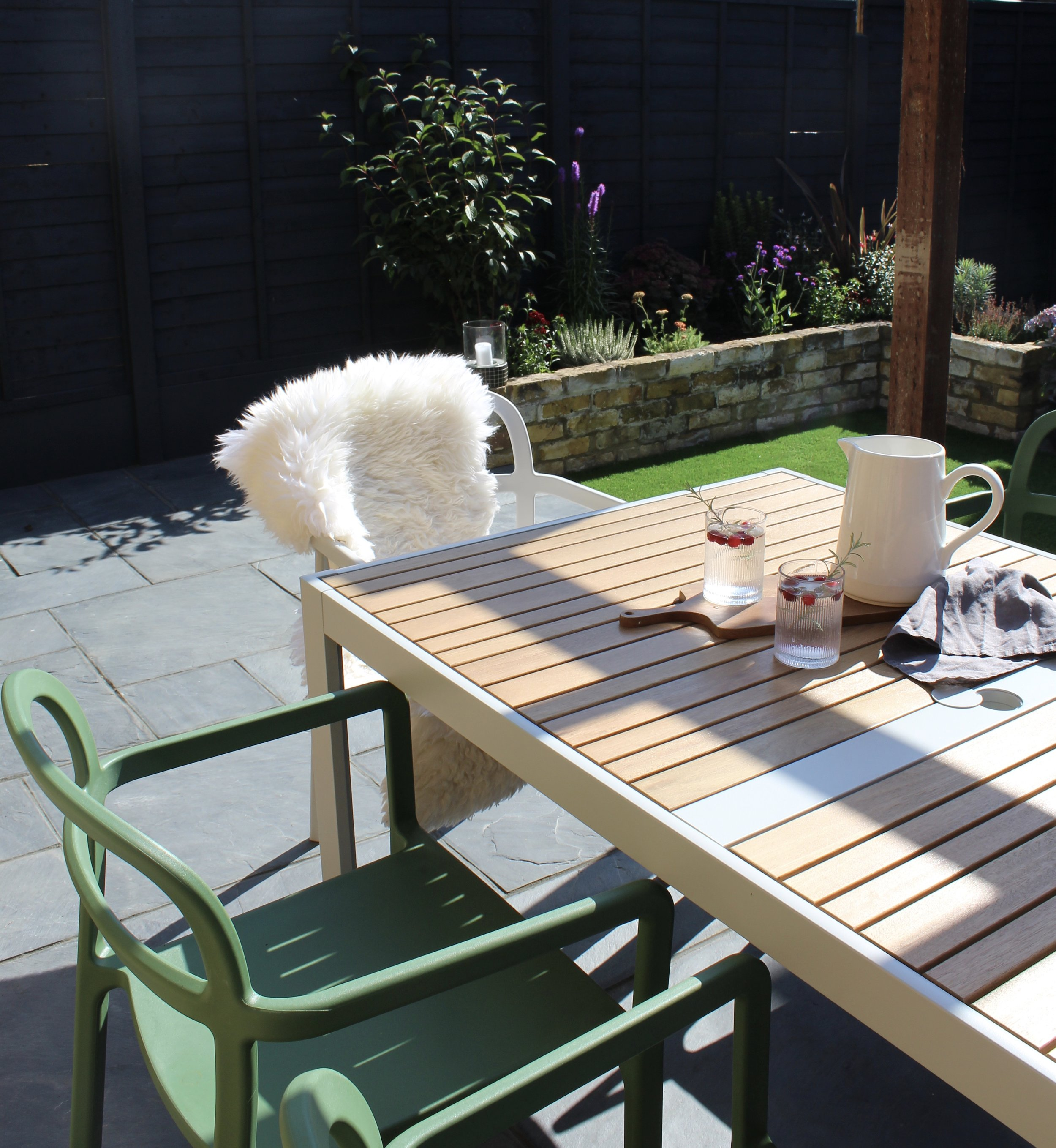 Garden furniture is from  Ikea  (chairs part of the recent collaboration with Hay)