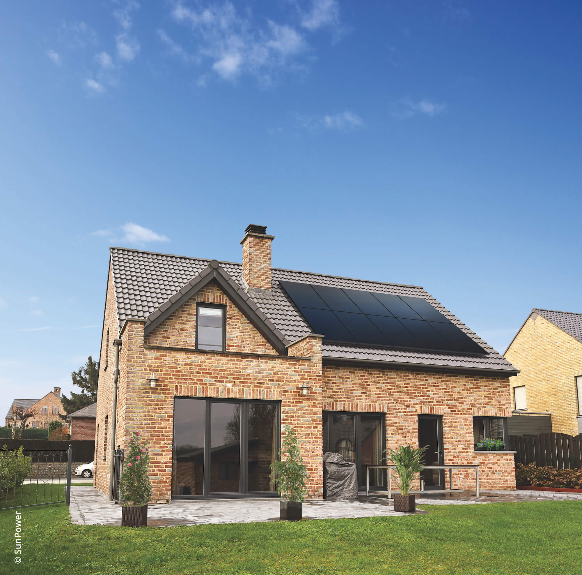 Solar PV Sunpower 10 Panel Installation