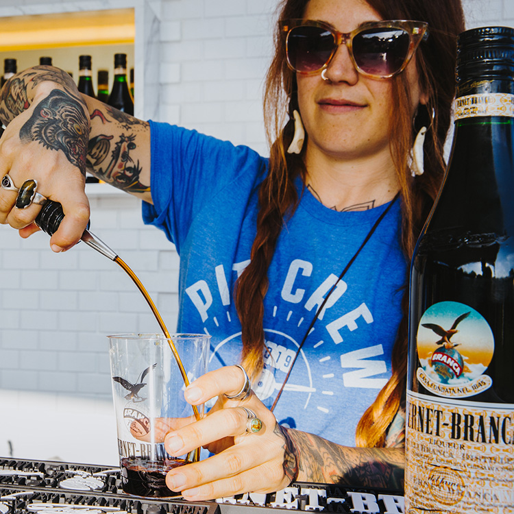 The Branca Bar   Fine food and Fernet…what more could you want?! Stop by the  Branca Bar  for a Branca Buck, a Fernet-Branca Highball, or just some fabulous Fernet straight up.