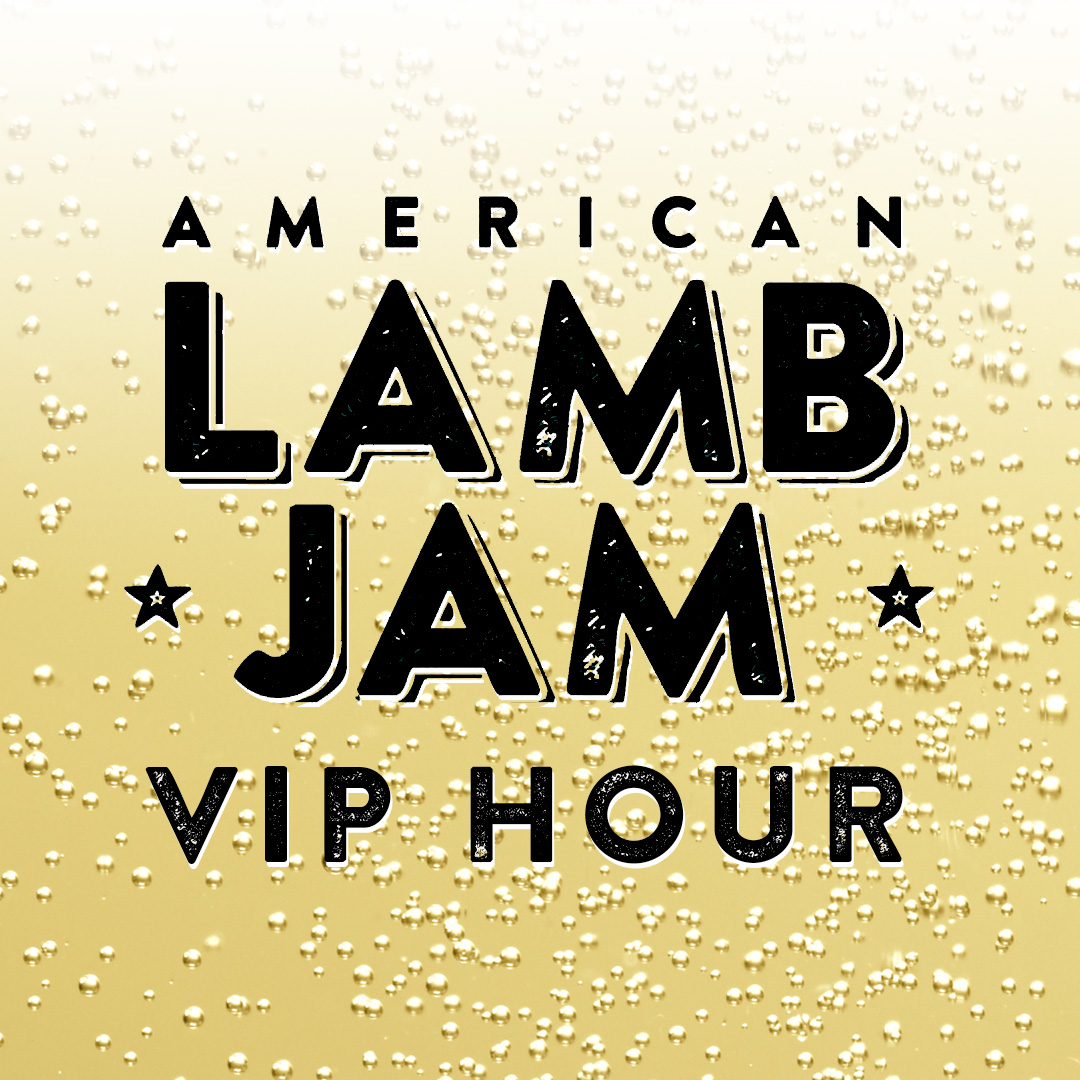 #TreatYoSelf to VIP   Score one hour of early access to everything at Lamb Jam with VIP tickets! We'll also greet you with a glass of  bubbly , shower you with  Browne Trading Co.   caviar , and treat you to  special sips  of  Mount Gay 1703  and a  Blue Moon reserve keg  from their RiNo tap room.