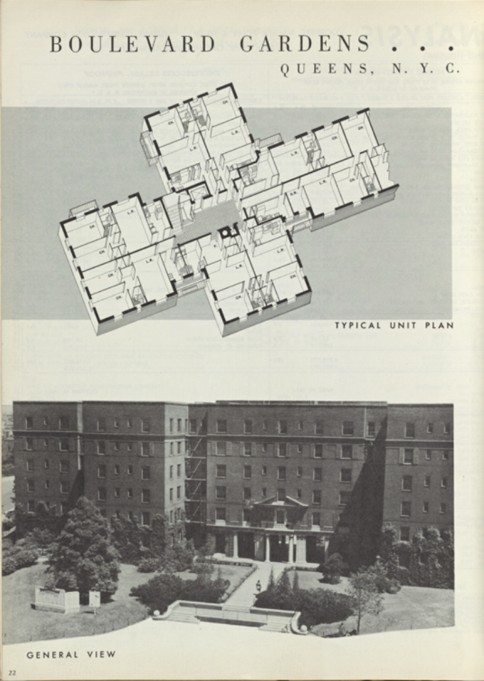 -  A historical brochure for the apartment complex